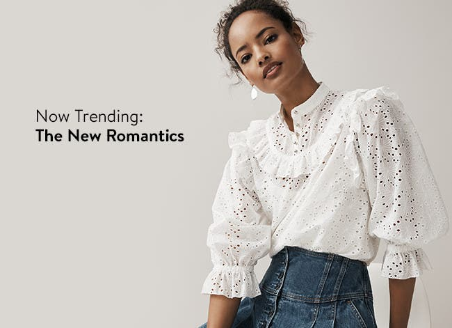 Now trending: romantic tops.