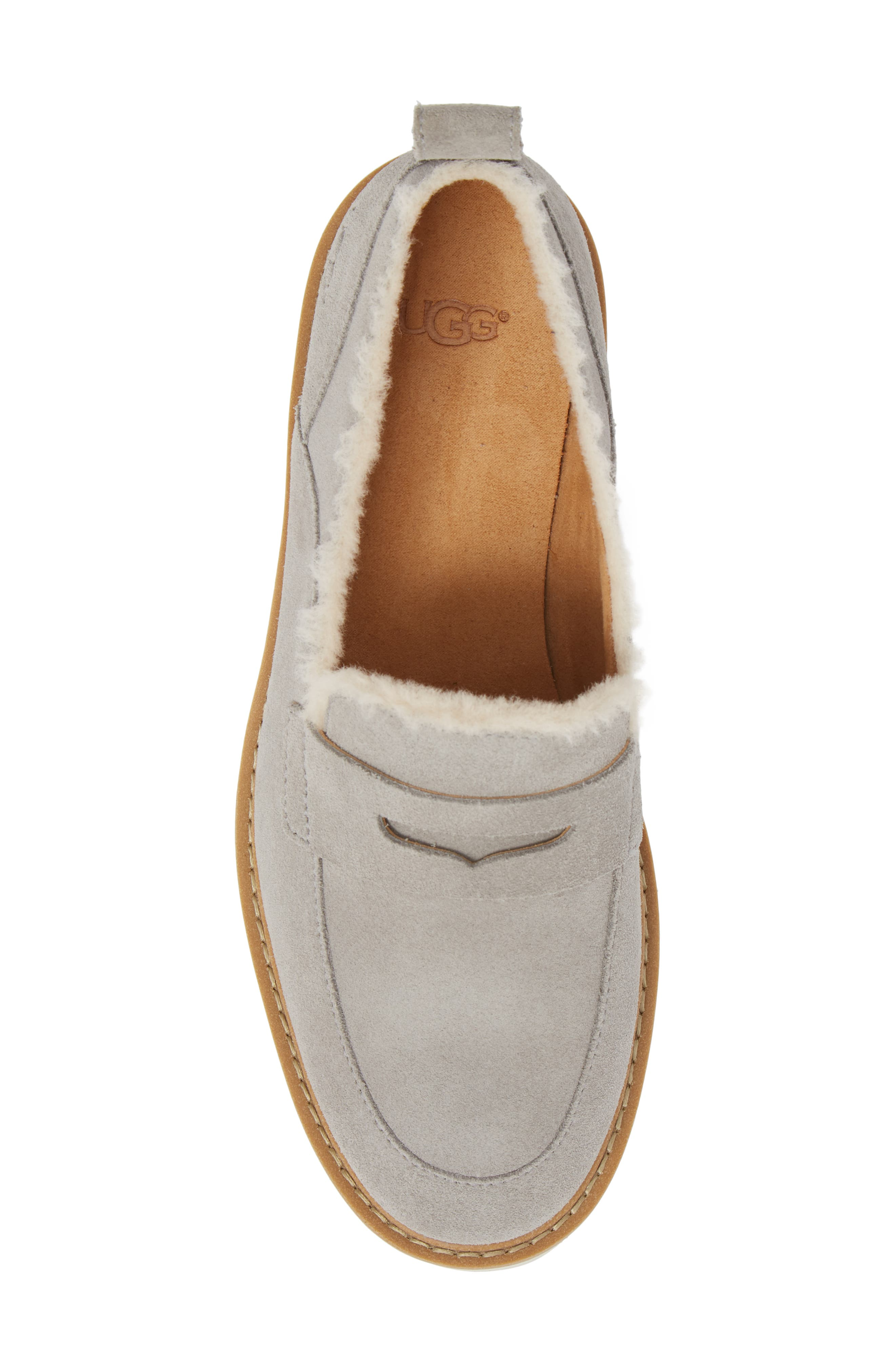 Atwater Spill Seam Wedge Loafer,                             Alternate thumbnail 5, color,                             SEAL LEATHER