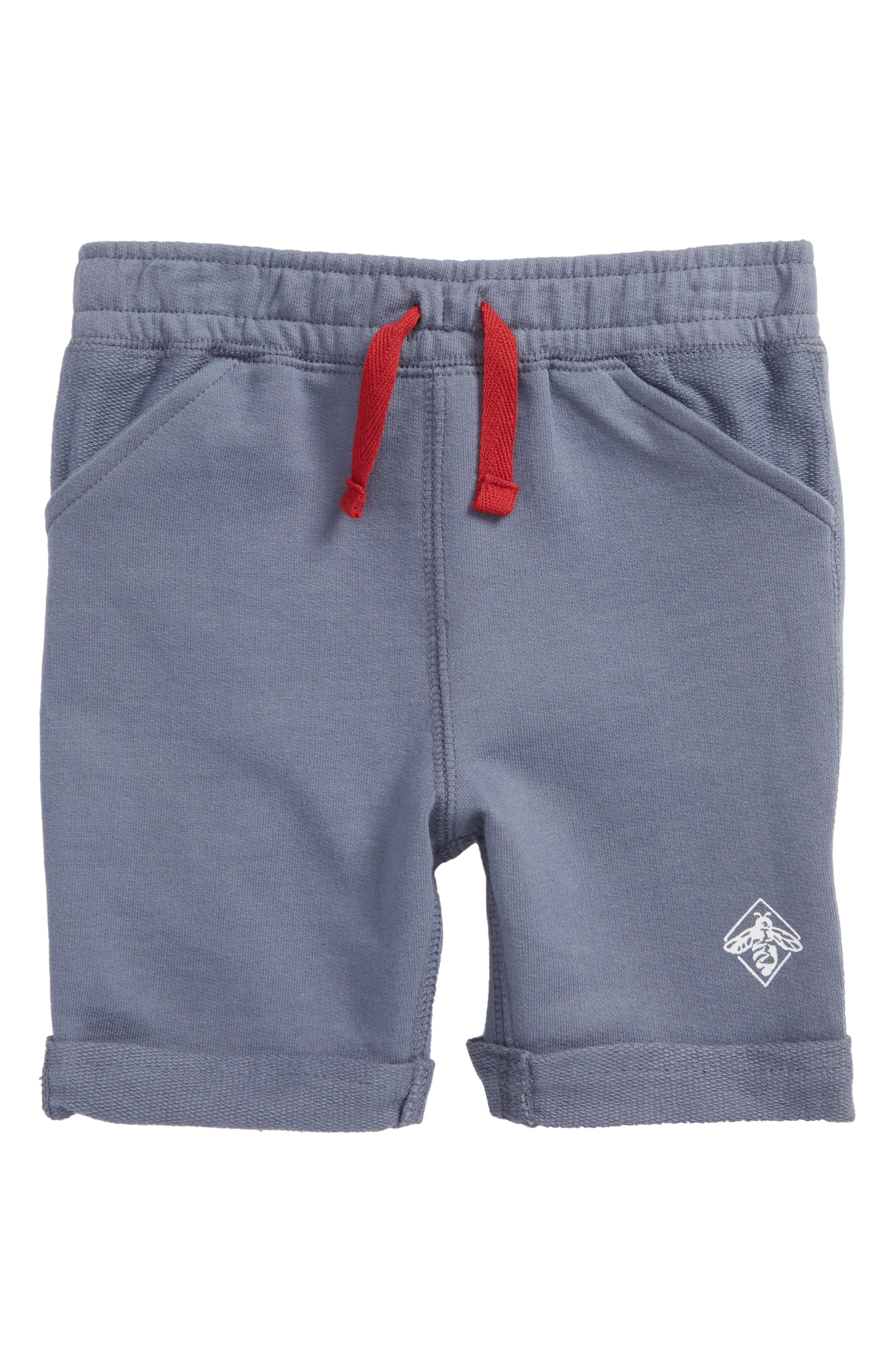 Roll Cuff French Terry Shorts,                             Main thumbnail 1, color,                             434