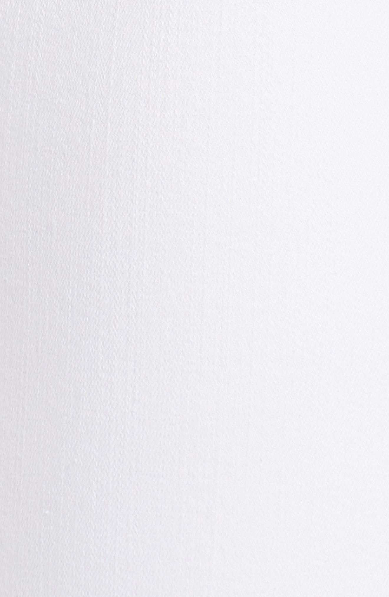 Natasha Sky High Super Skinny Jeans,                             Alternate thumbnail 6, color,                             WHITE