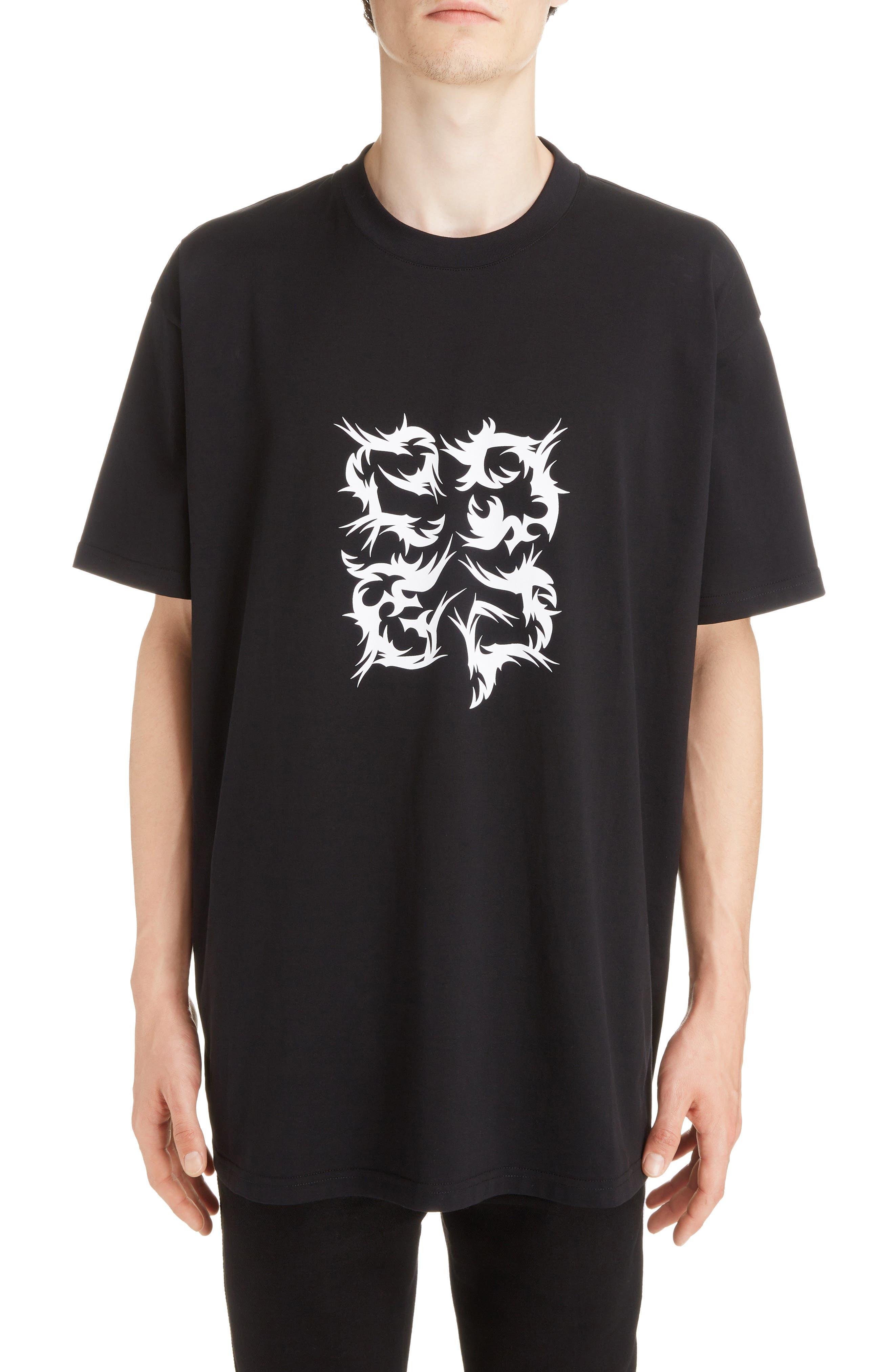 Abstract 4G Logo T-Shirt,                         Main,                         color, BLACK