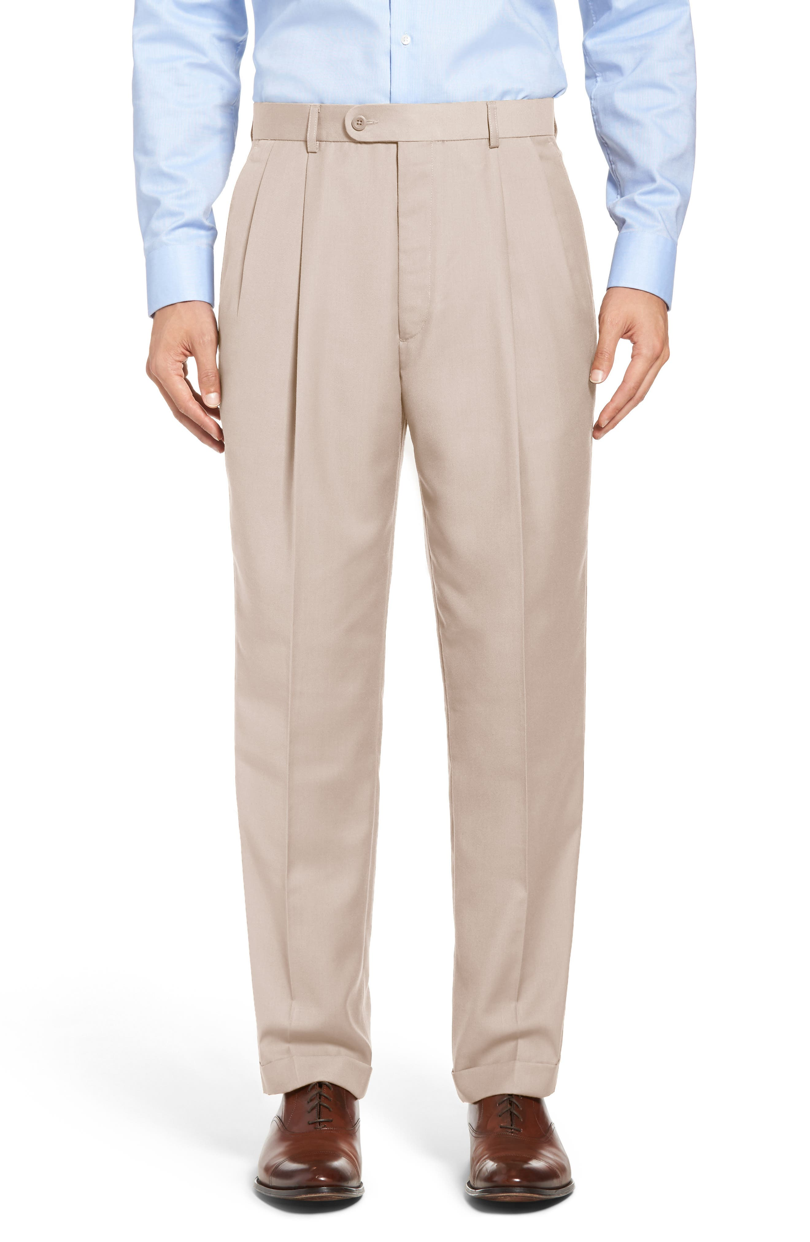 Pleated Microfiber Dress Pants,                             Alternate thumbnail 11, color,