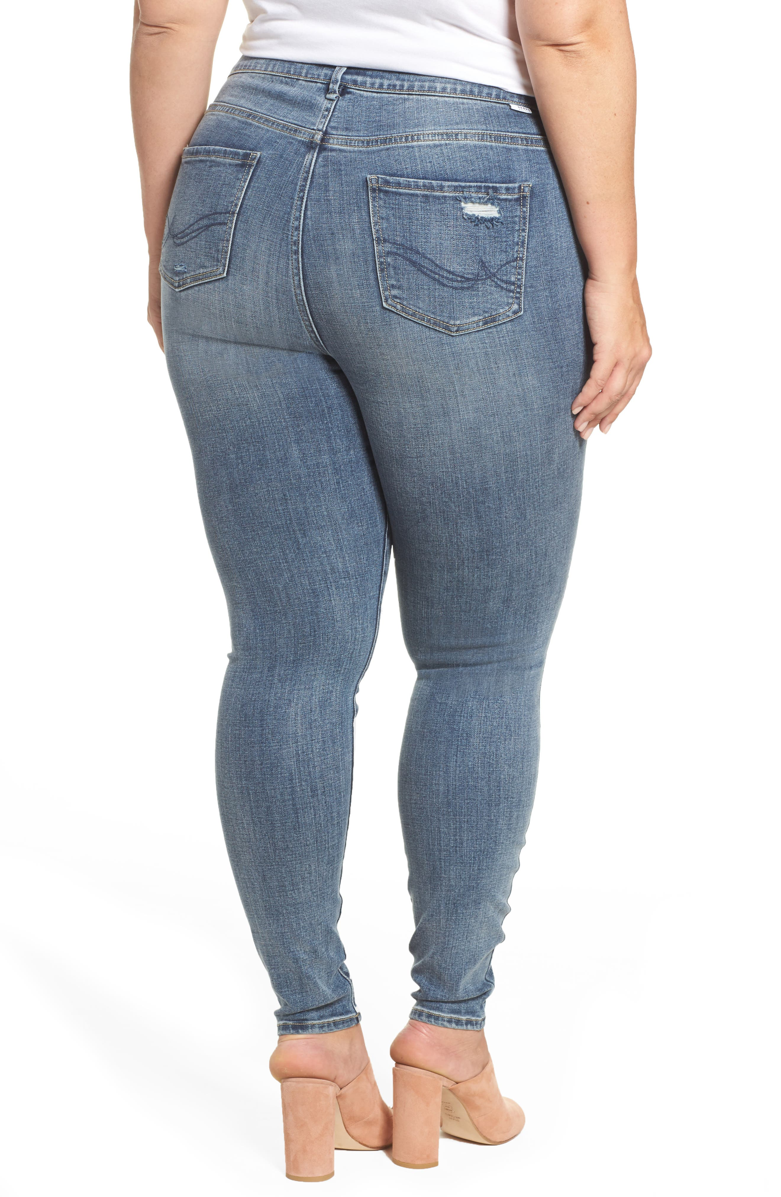 The Pin Up Super Skinny Jeans,                             Alternate thumbnail 8, color,