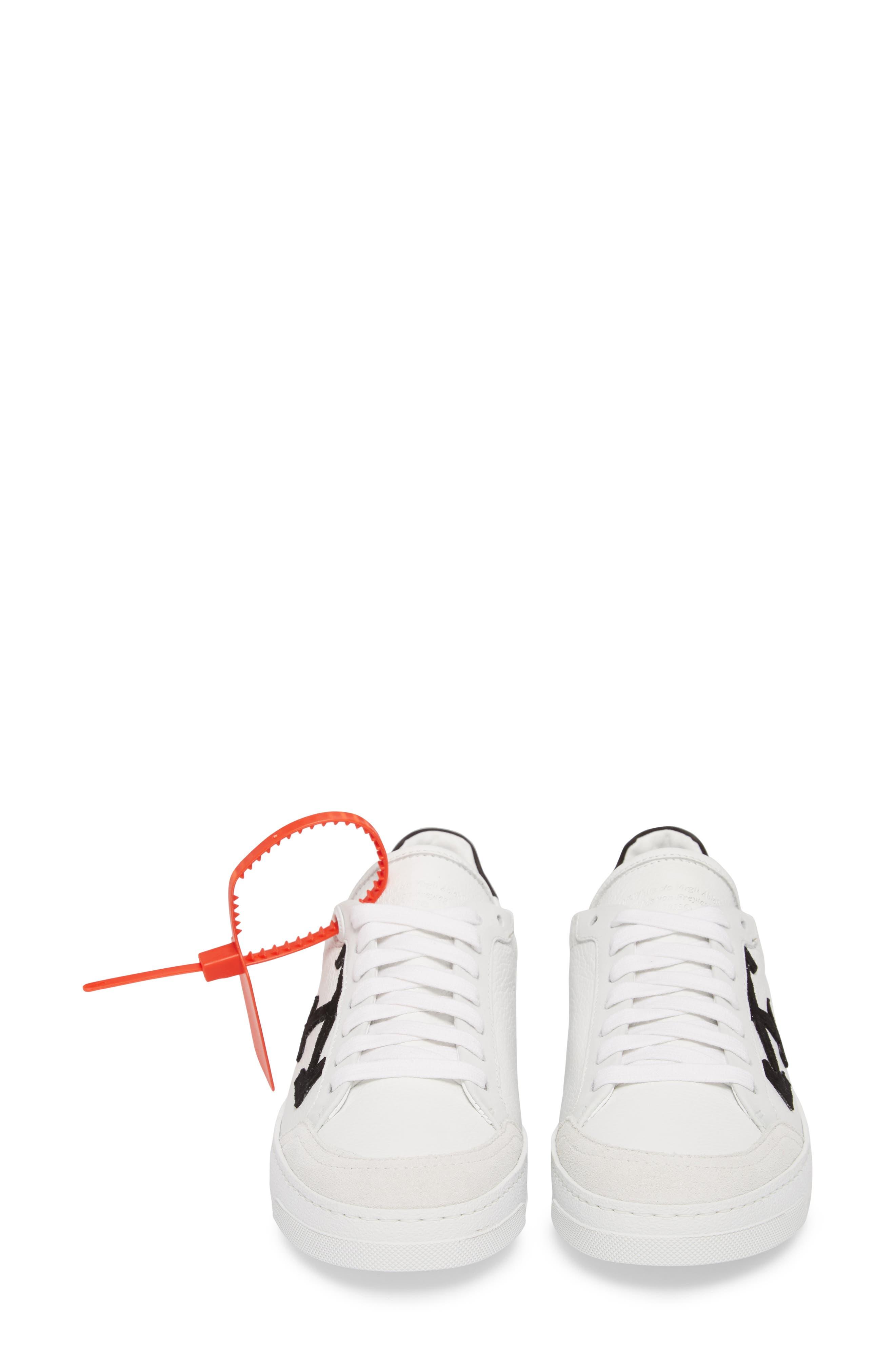 Arrow Sneaker,                             Alternate thumbnail 5, color,                             WHITE BLACK