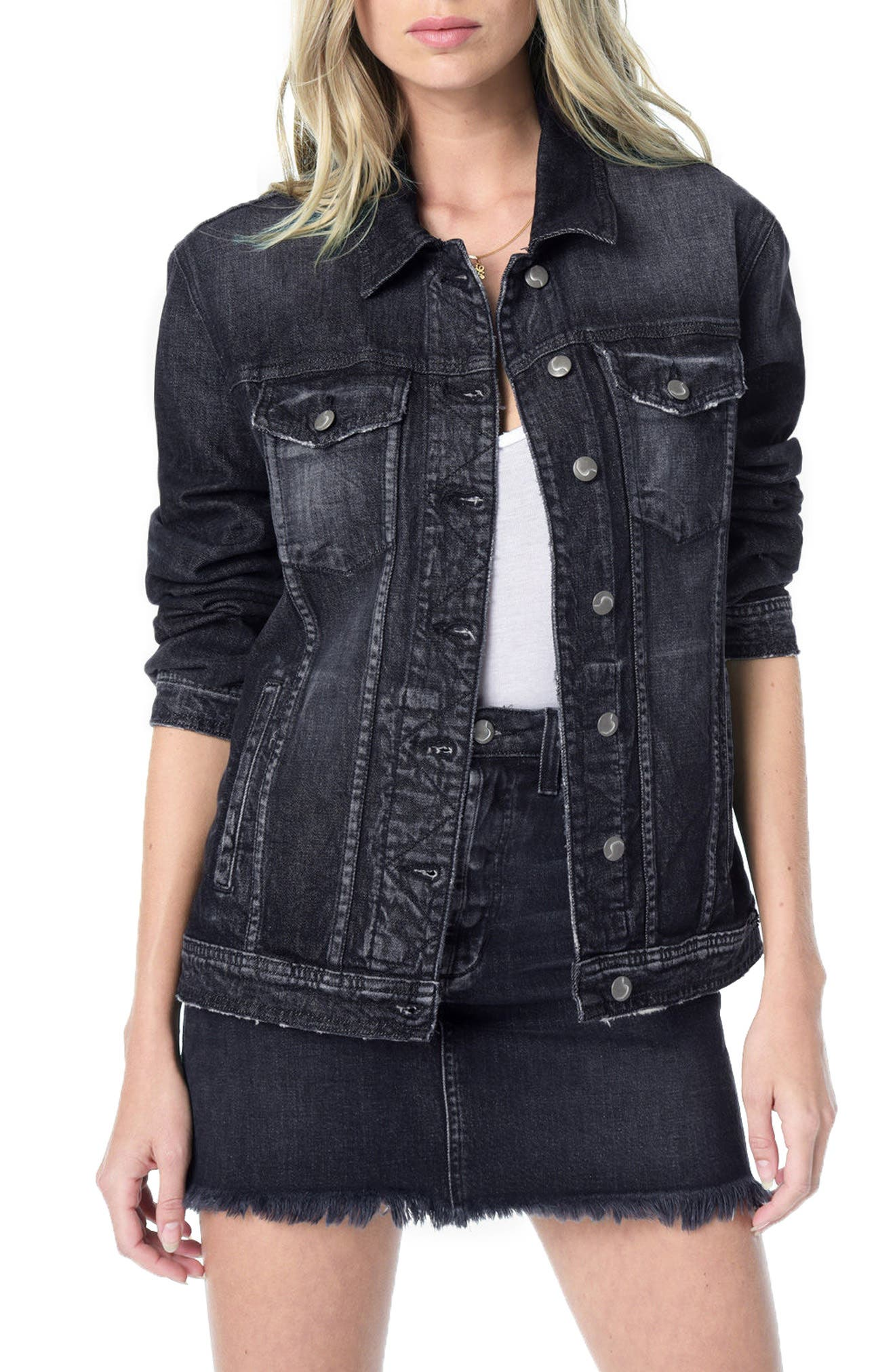 Classics Boyfriend Denim Jacket,                             Main thumbnail 1, color,