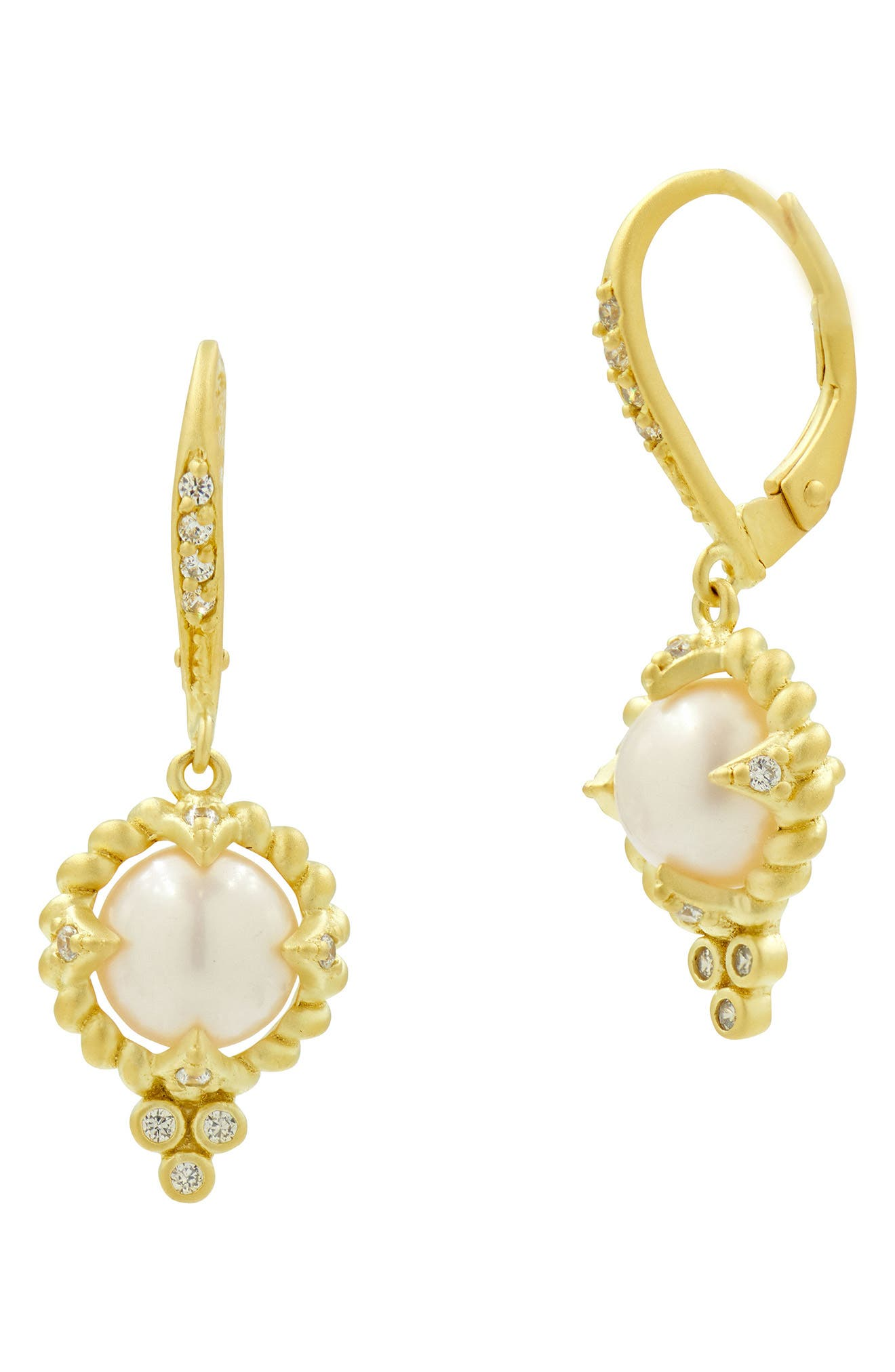 Textured Pearl Drop Earrings,                         Main,                         color, 710