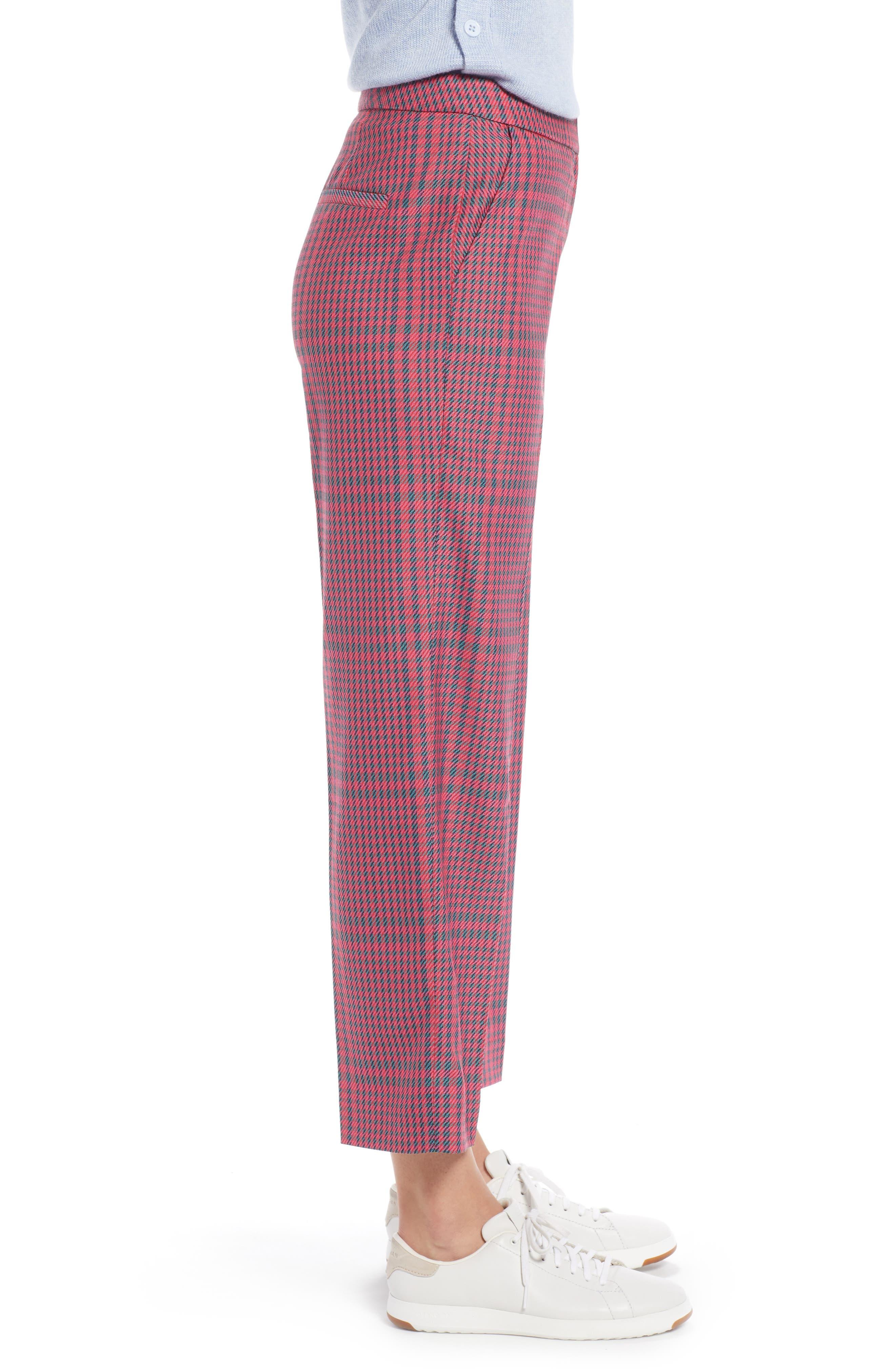 1901,                             Straight Leg Plaid Pants,                             Alternate thumbnail 3, color,                             PINK SIMONE PLAID