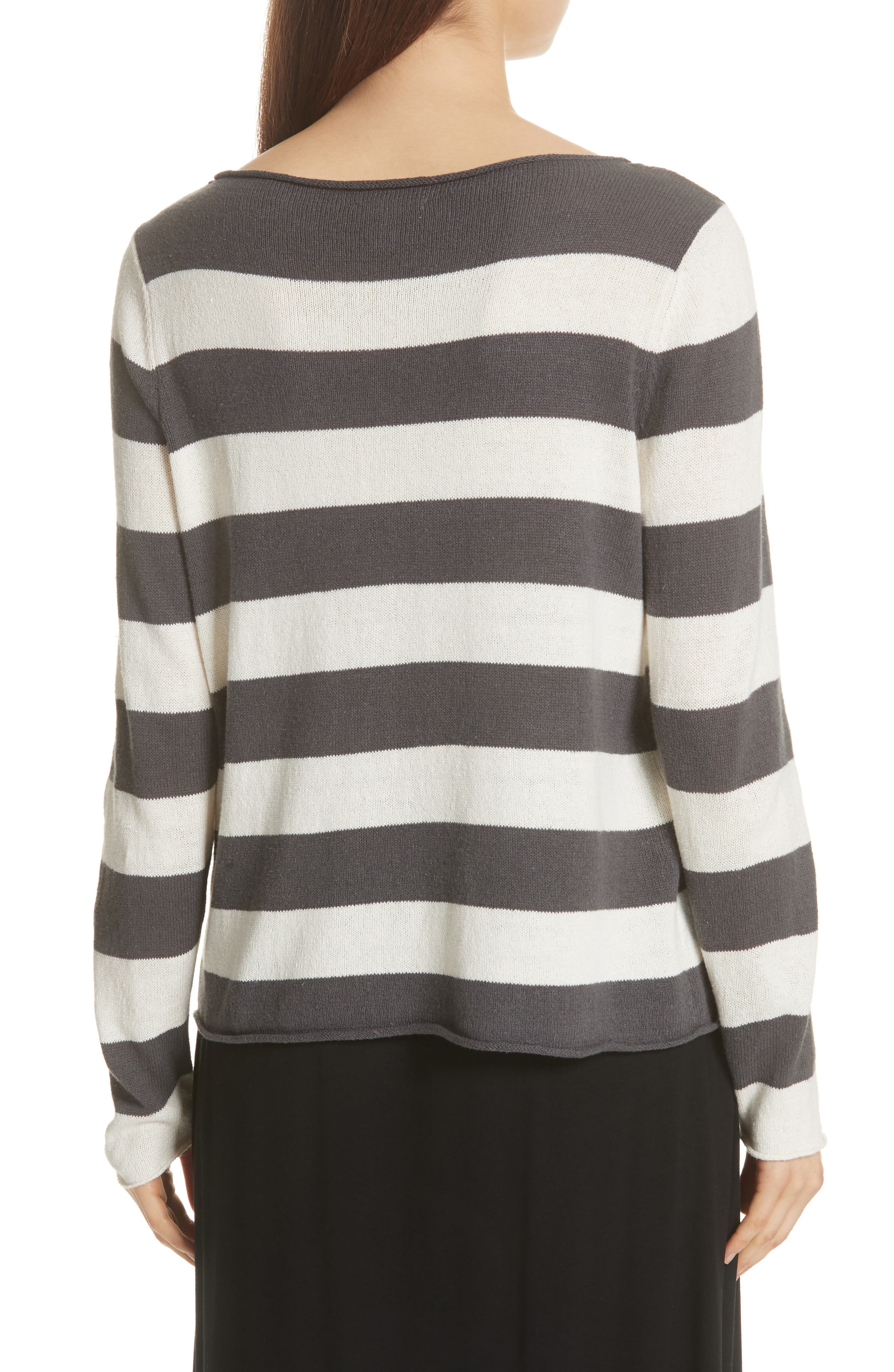 Stripe Cotton & Hemp Sweater,                             Alternate thumbnail 2, color,                             166