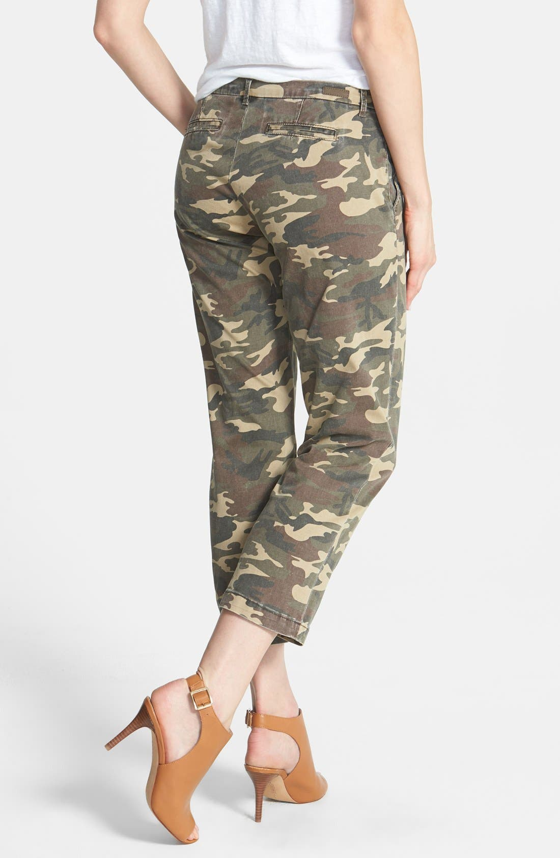 KUT FROM THE KLOTH,                             'Gwen' Camo Crop Pants,                             Alternate thumbnail 4, color,                             300