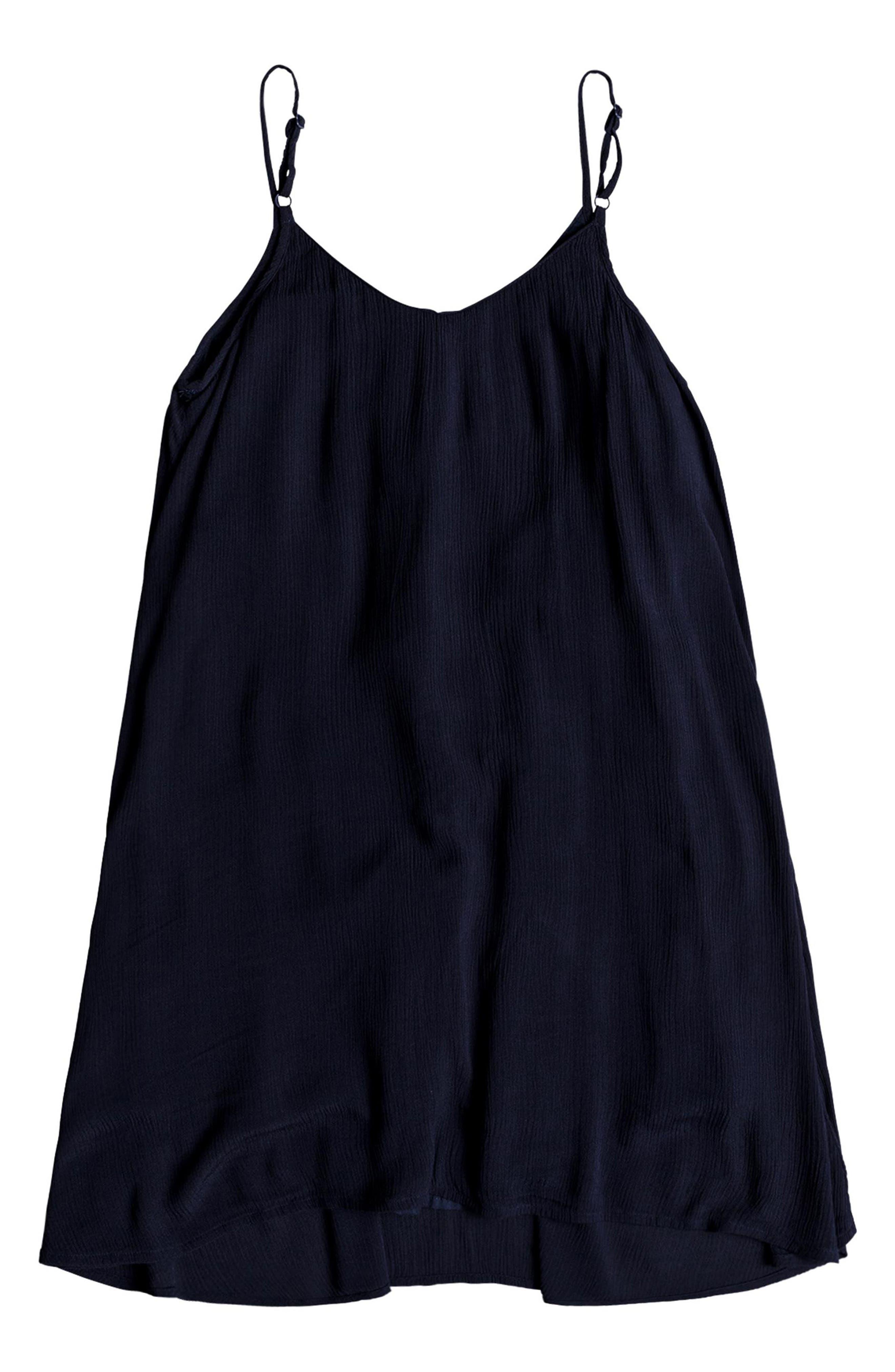 Full Bloom Swing Dress,                             Alternate thumbnail 3, color,                             TRUE BLACK