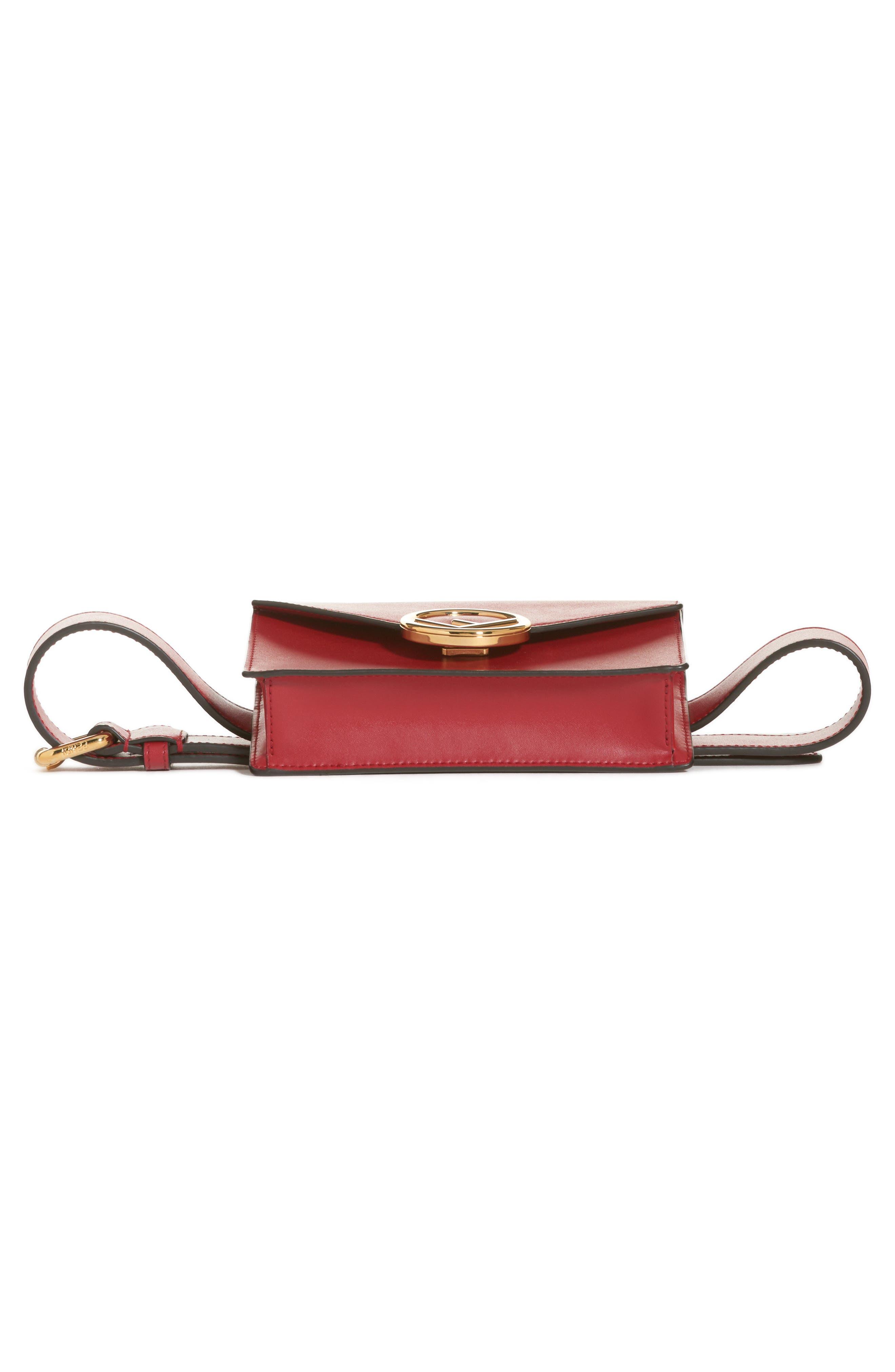 Liberty Logo Calfskin Leather Belt Bag,                             Alternate thumbnail 6, color,                             600