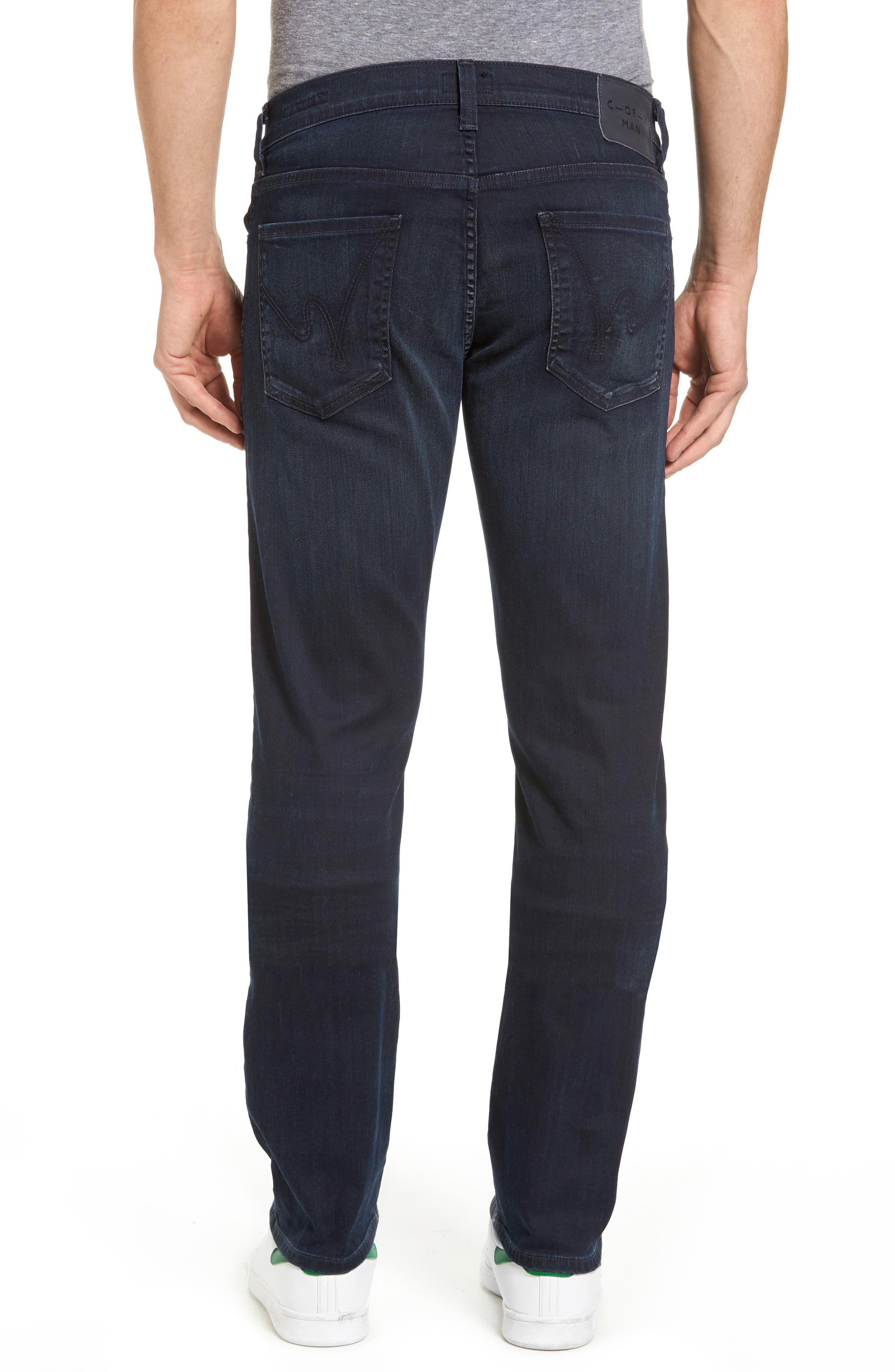 Core Slim Straight Leg Jeans,                             Alternate thumbnail 2, color,                             DURANT