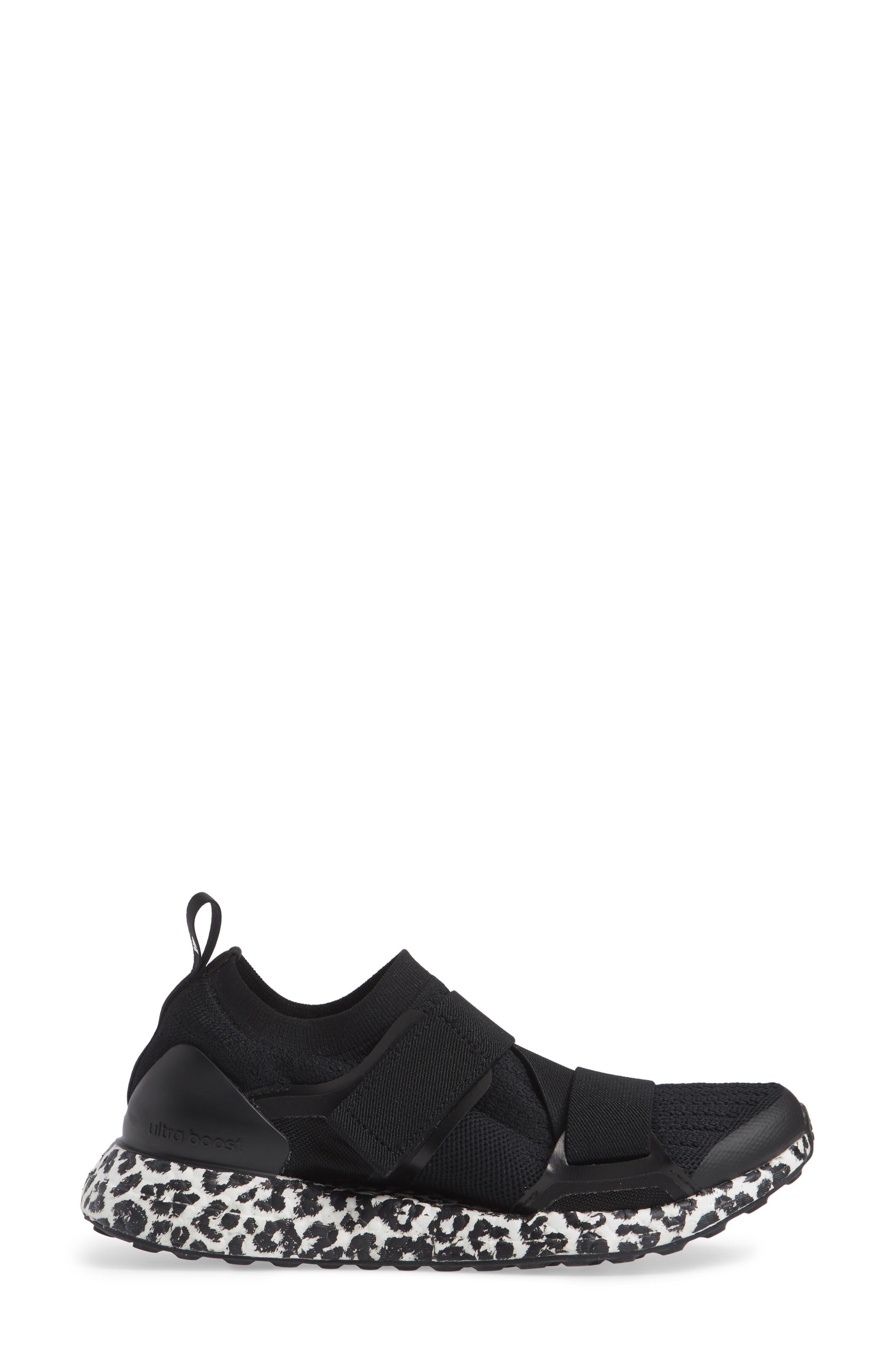 UltraBoost X Running Shoe,                             Alternate thumbnail 3, color,                             BLACK/ BLACK/ WHITE