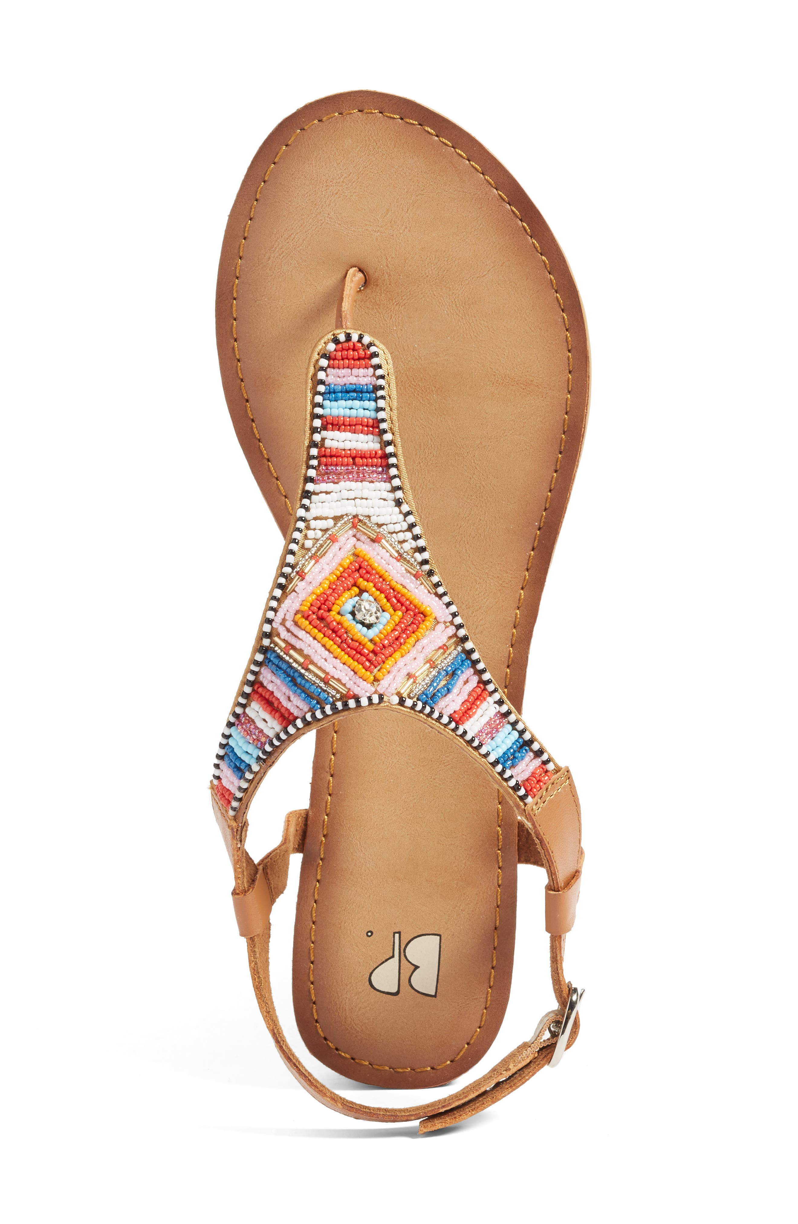 Zandra Beaded V-Strap Sandal,                             Alternate thumbnail 3, color,                             200