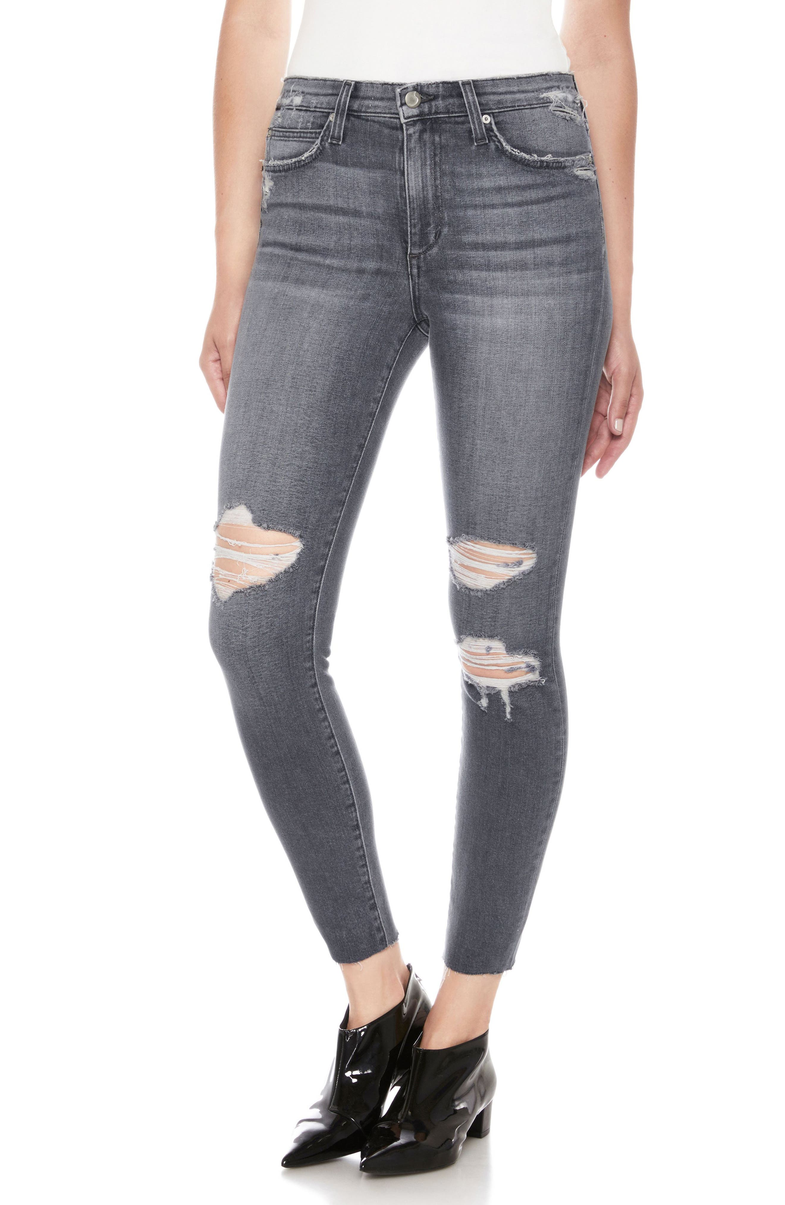 Charlie High Waist Ankle Skinny Jeans,                             Main thumbnail 1, color,                             030
