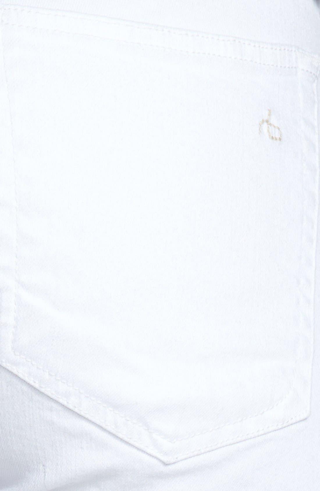 'The Dre' Skinny Jeans,                             Alternate thumbnail 10, color,                             BRIGHT WHITE