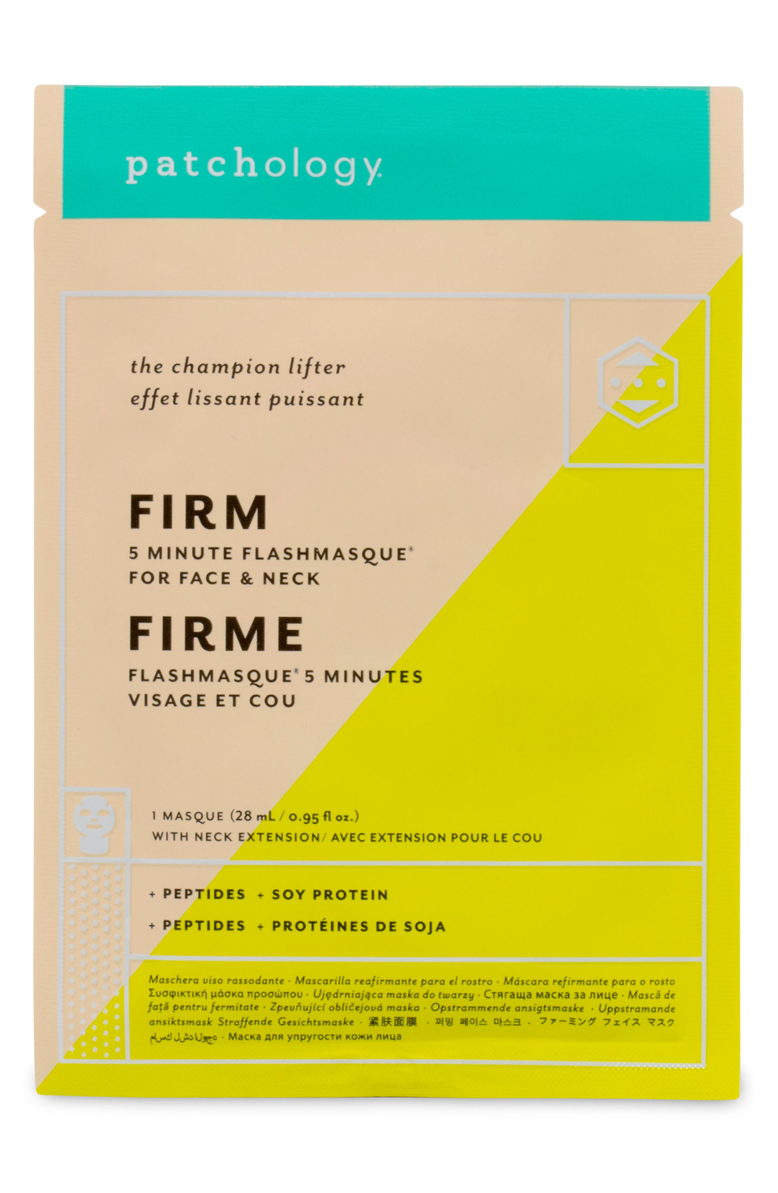 FlashMasque<sup>®</sup> Firm 5-Minute Face & Neck Sheet Mask,                             Main thumbnail 1, color,                             000