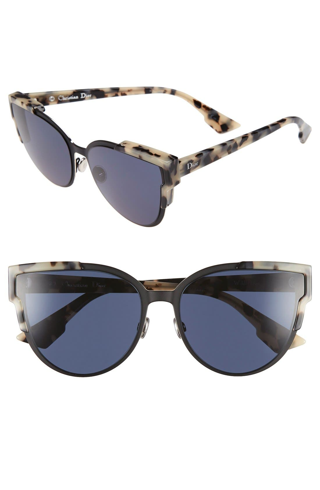 Wildly Dior 60mm Cat Eye Sunglasses,                             Main thumbnail 1, color,                             200