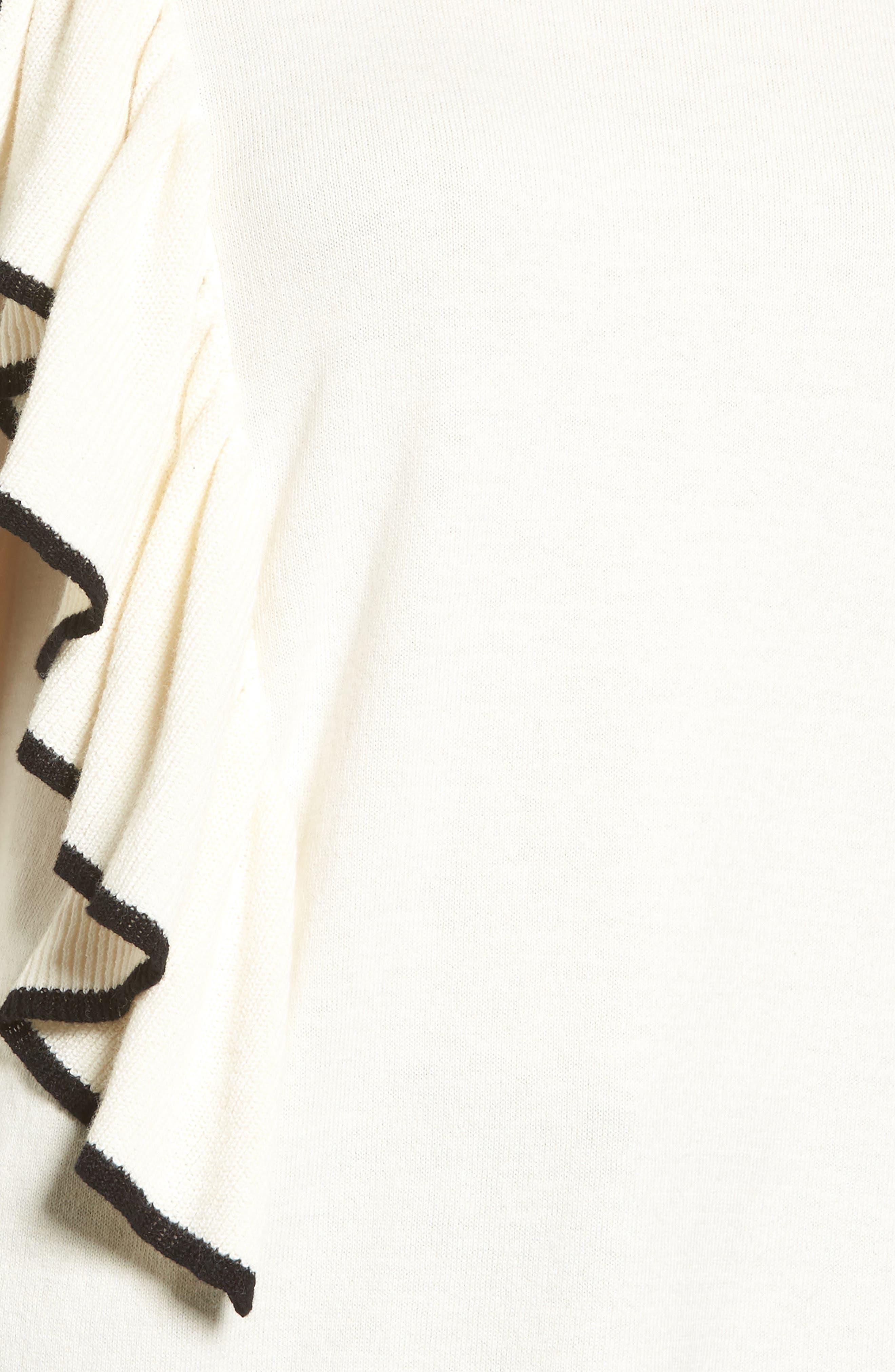 Asymmetrical Ruffle Sweater,                             Alternate thumbnail 15, color,
