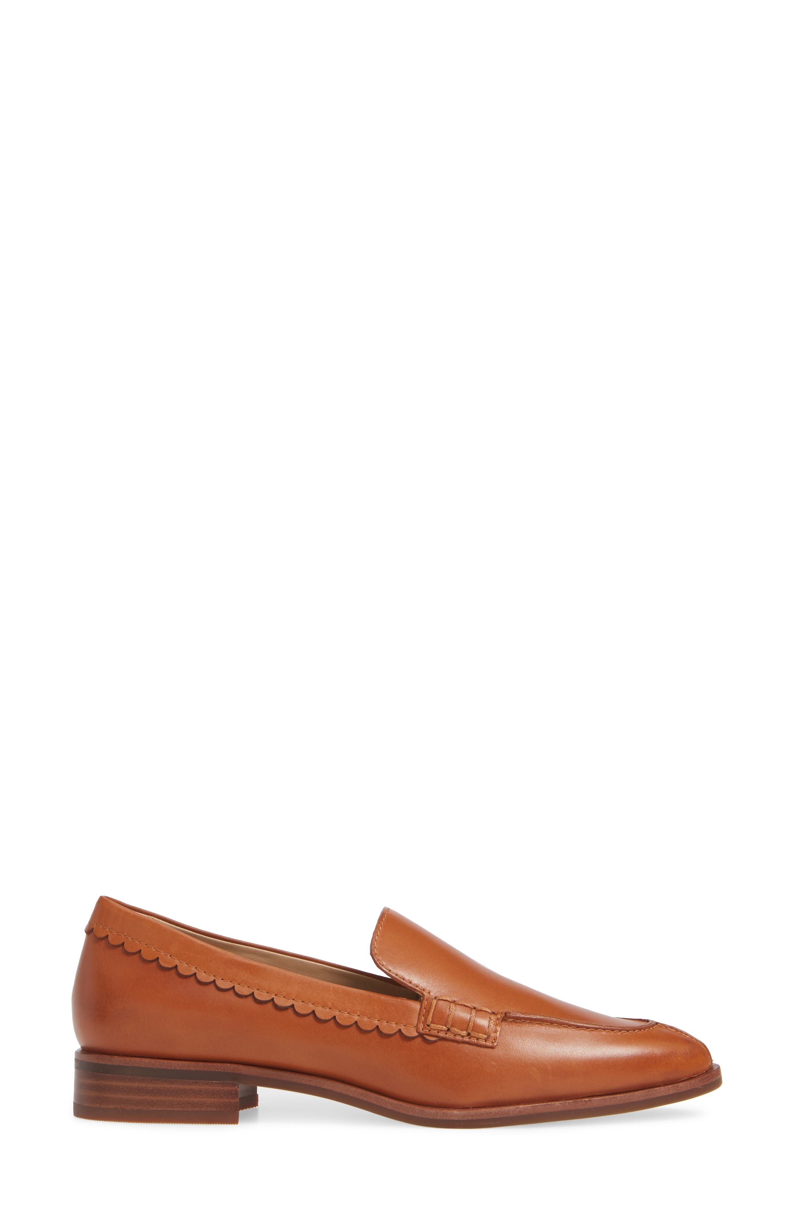 Bowery Loafer,                             Alternate thumbnail 3, color,                             COCONUT VACHETTA LEATHER