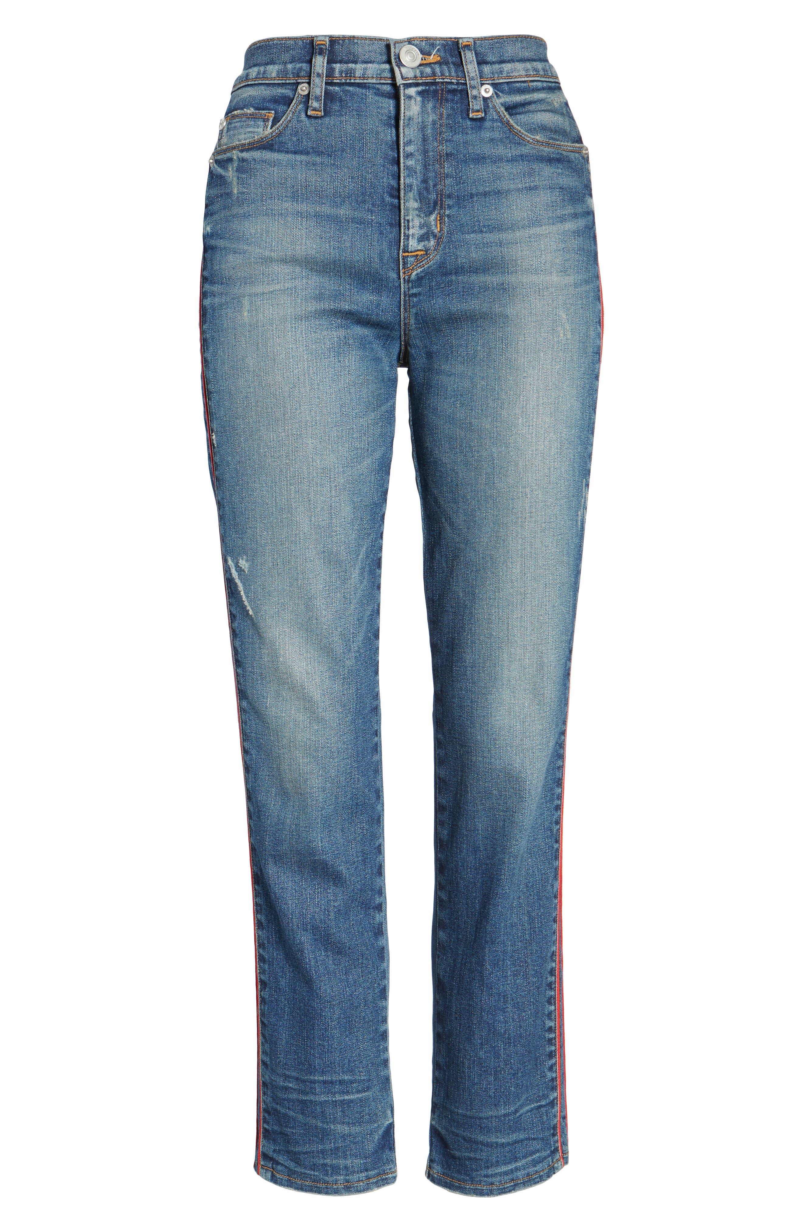 Zoeey High Waist Crop Jeans,                             Alternate thumbnail 6, color,                             460