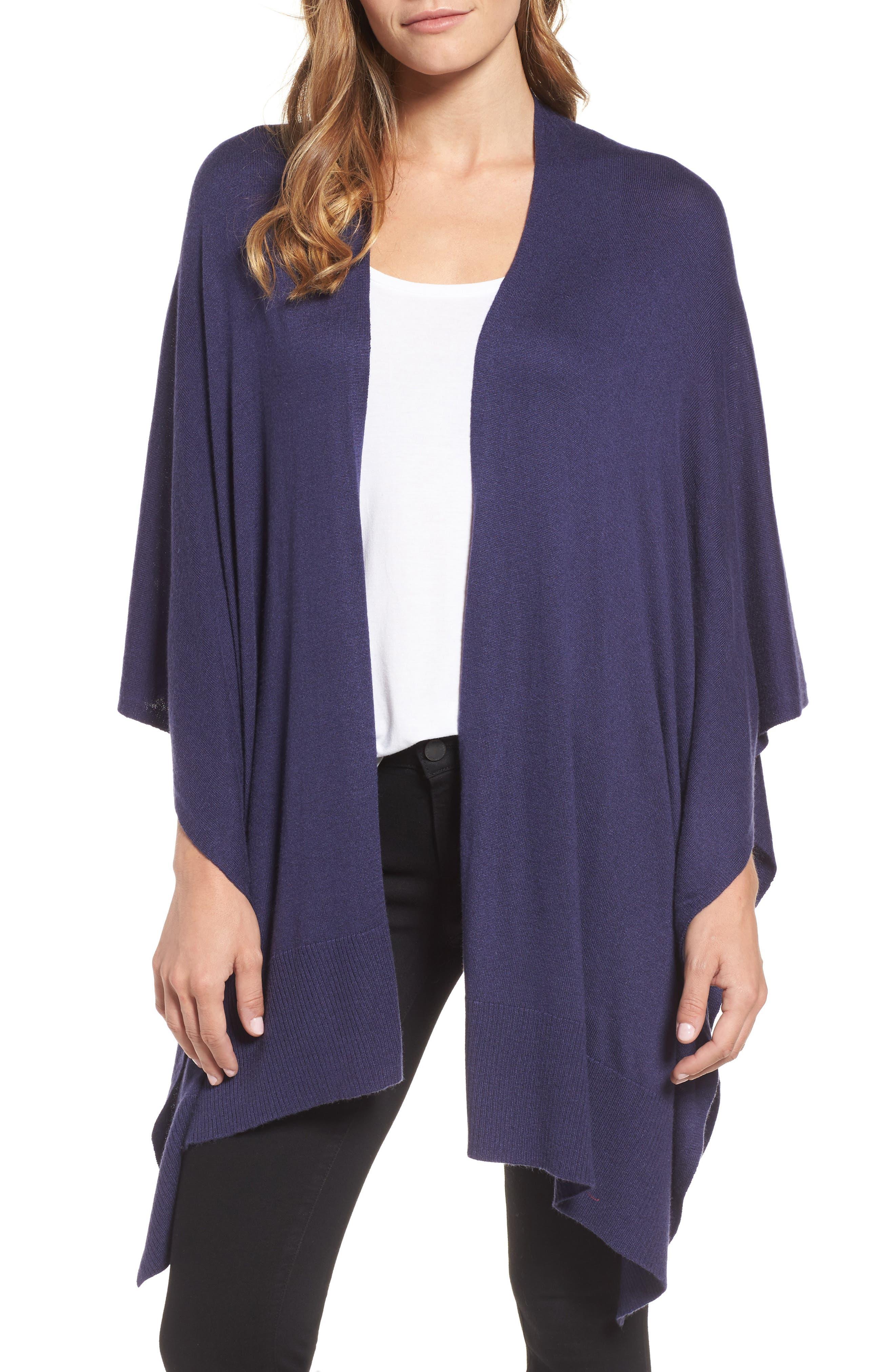 Essential Knit Ruana, Main, color, 410