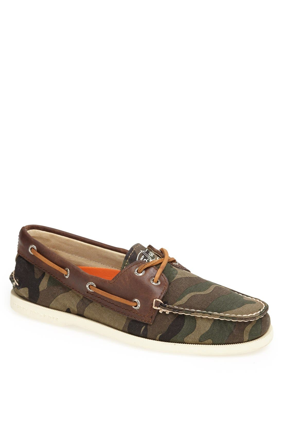 Top-Sider<sup>®</sup> 'Authentic Original Camo' Canvas Boat Shoe, Main, color, 300