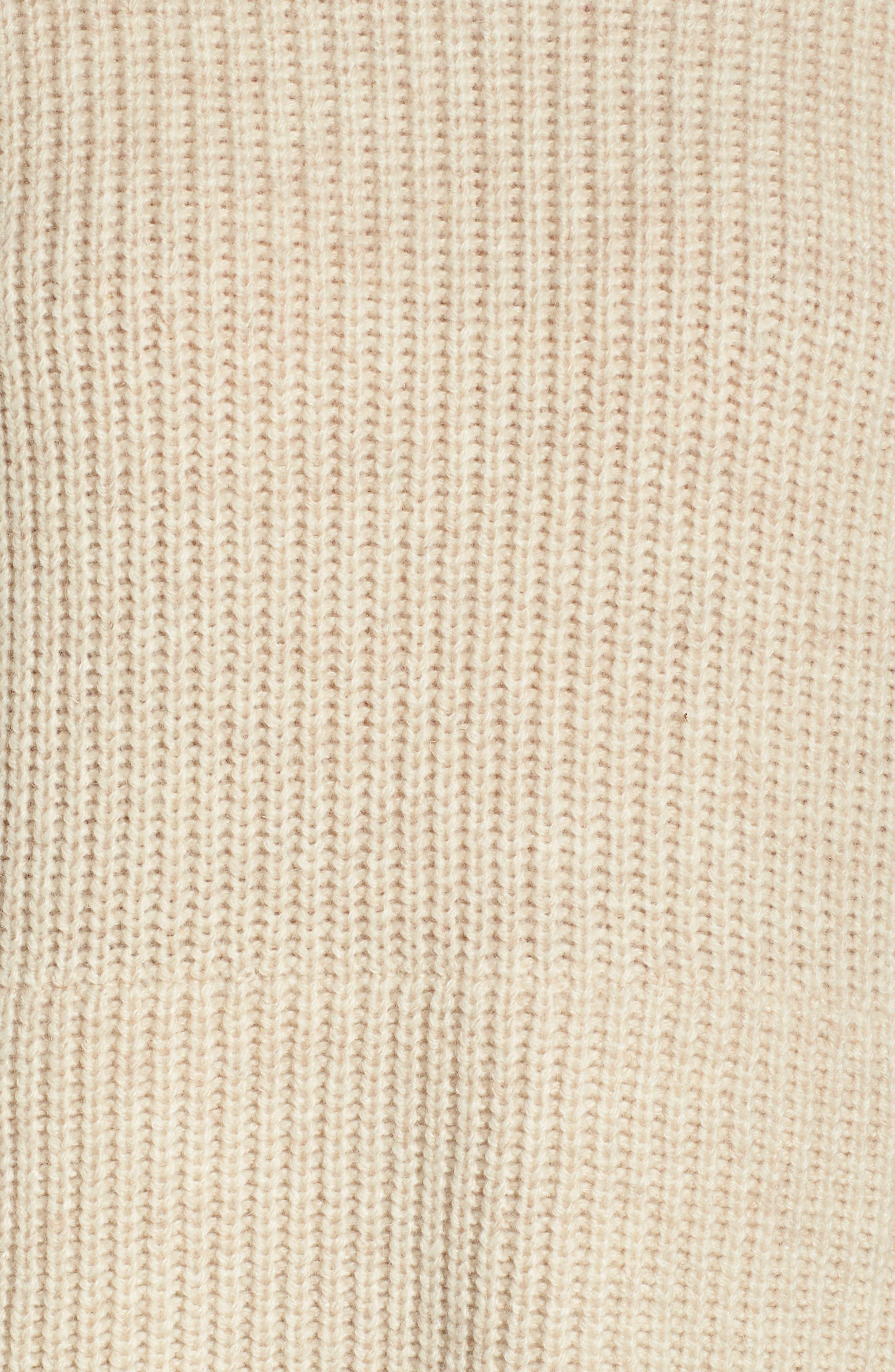 Raelynn Sweater Poncho,                             Alternate thumbnail 5, color,                             CREAM HEATHER
