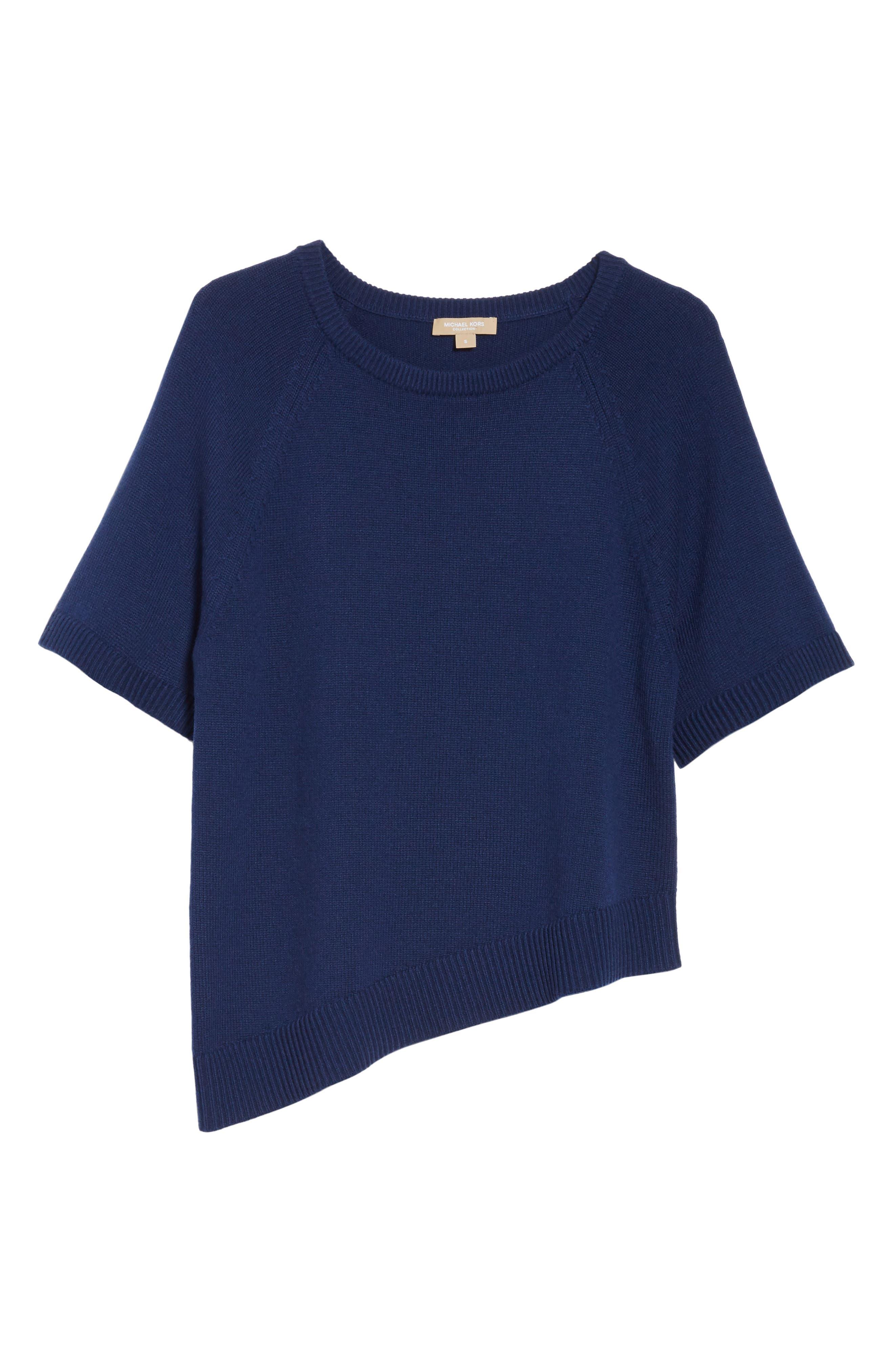Asymmetrical Cashmere Pullover,                             Alternate thumbnail 6, color,                             489