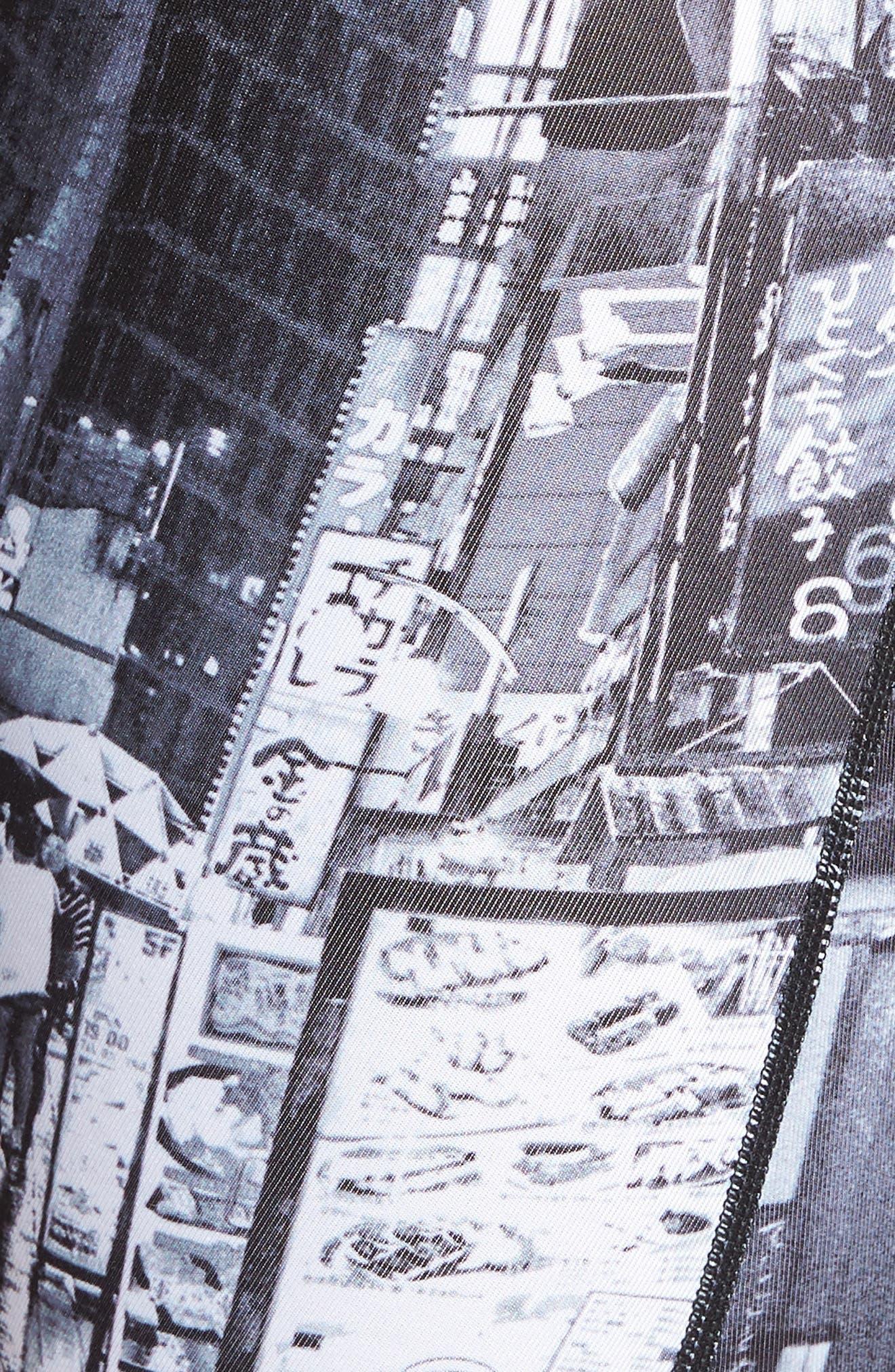 Tokyo Stroll Stretch Boxer Briefs,                             Alternate thumbnail 5, color,                             BLACK/ WHITE