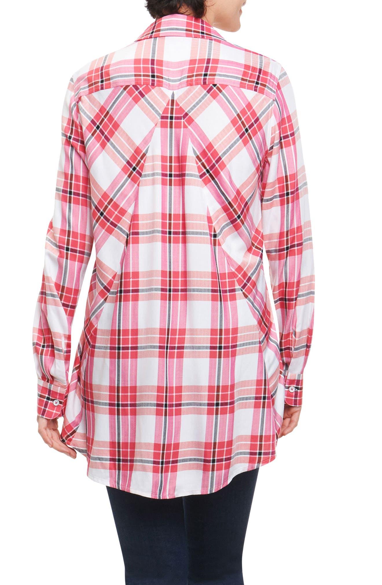 Fay Pinktini Plaid Shirt,                             Alternate thumbnail 2, color,                             MULTI