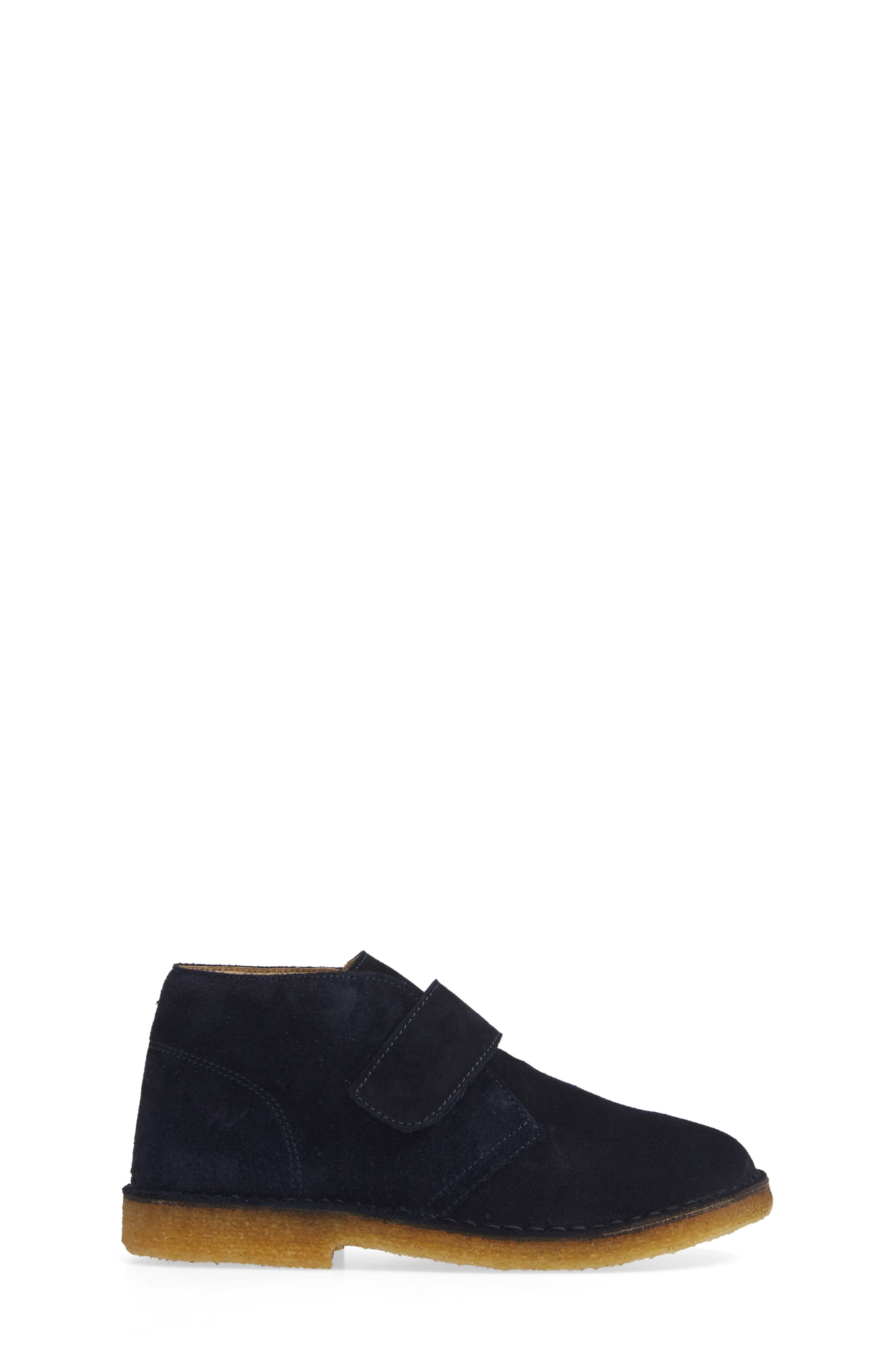 Choco Chukka Boot,                             Alternate thumbnail 3, color,                             BLUE SUEDE