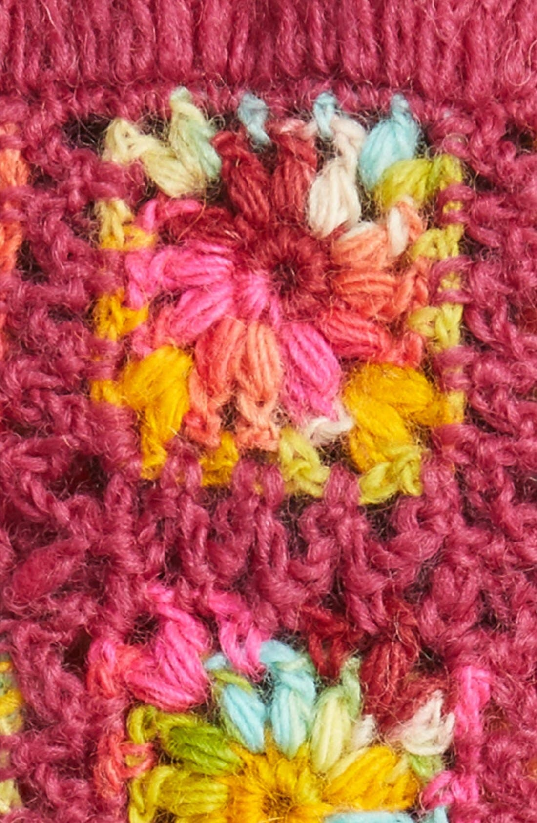 Flower Crochet Hand Warmers,                             Alternate thumbnail 14, color,