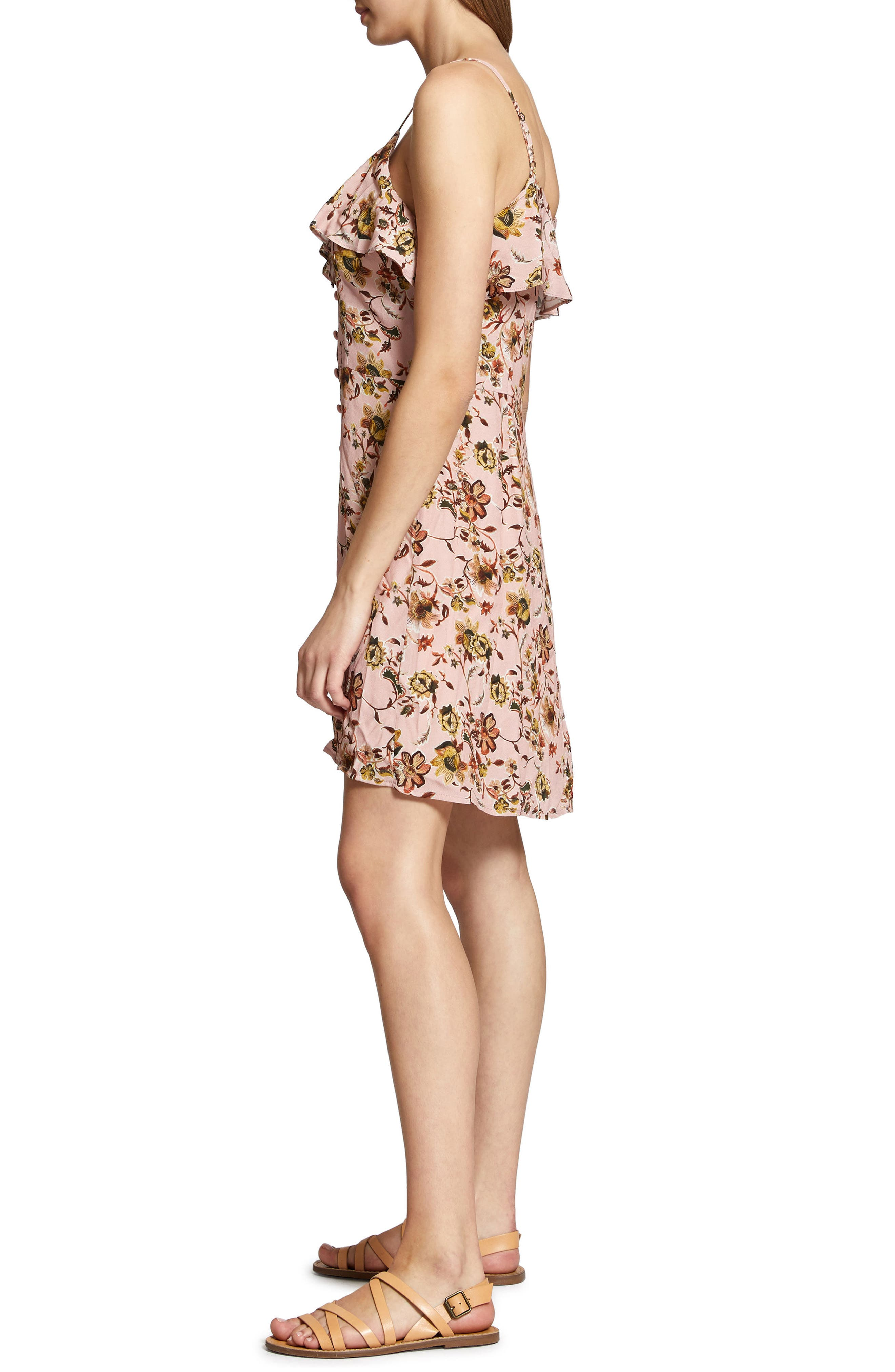 Rafaella Floral Print Dress,                             Alternate thumbnail 6, color,