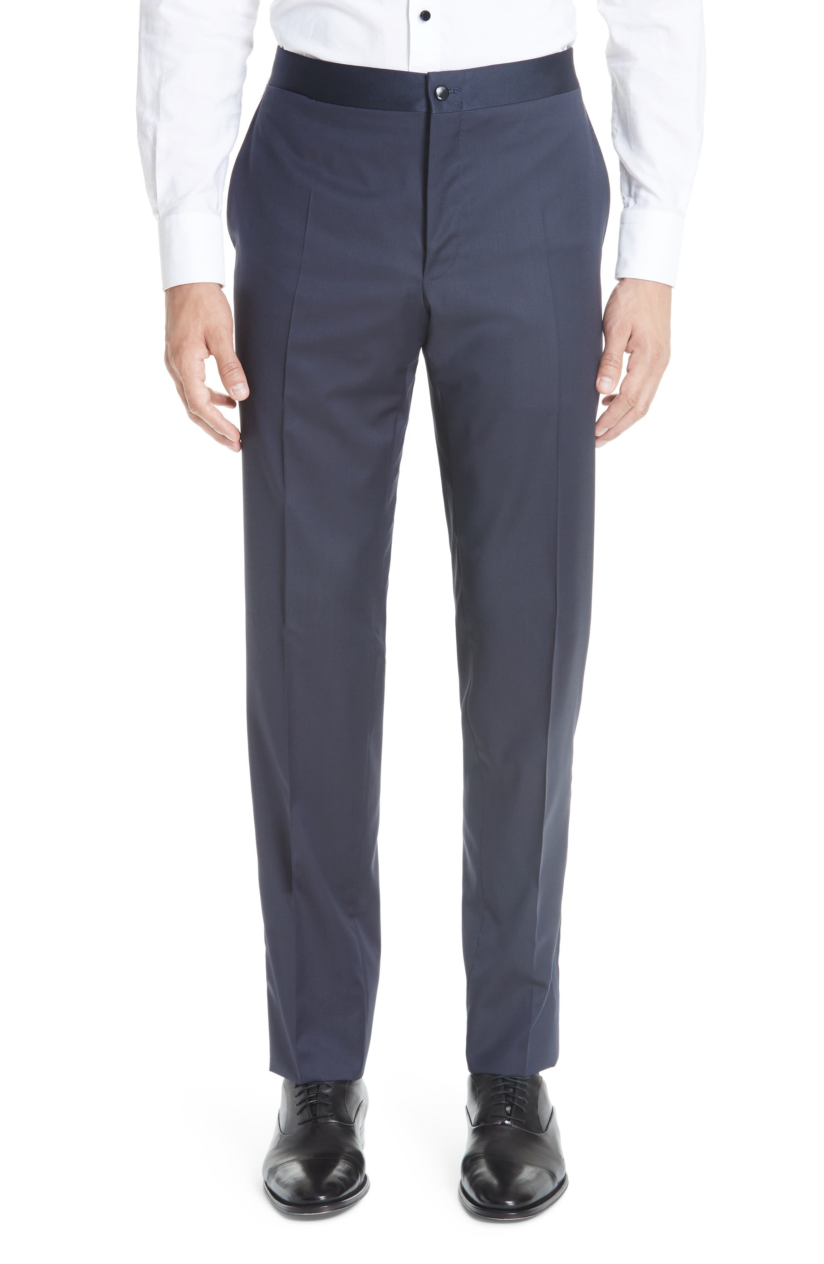 Classic Fit Wool Tuxedo,                             Alternate thumbnail 6, color,                             NAVY
