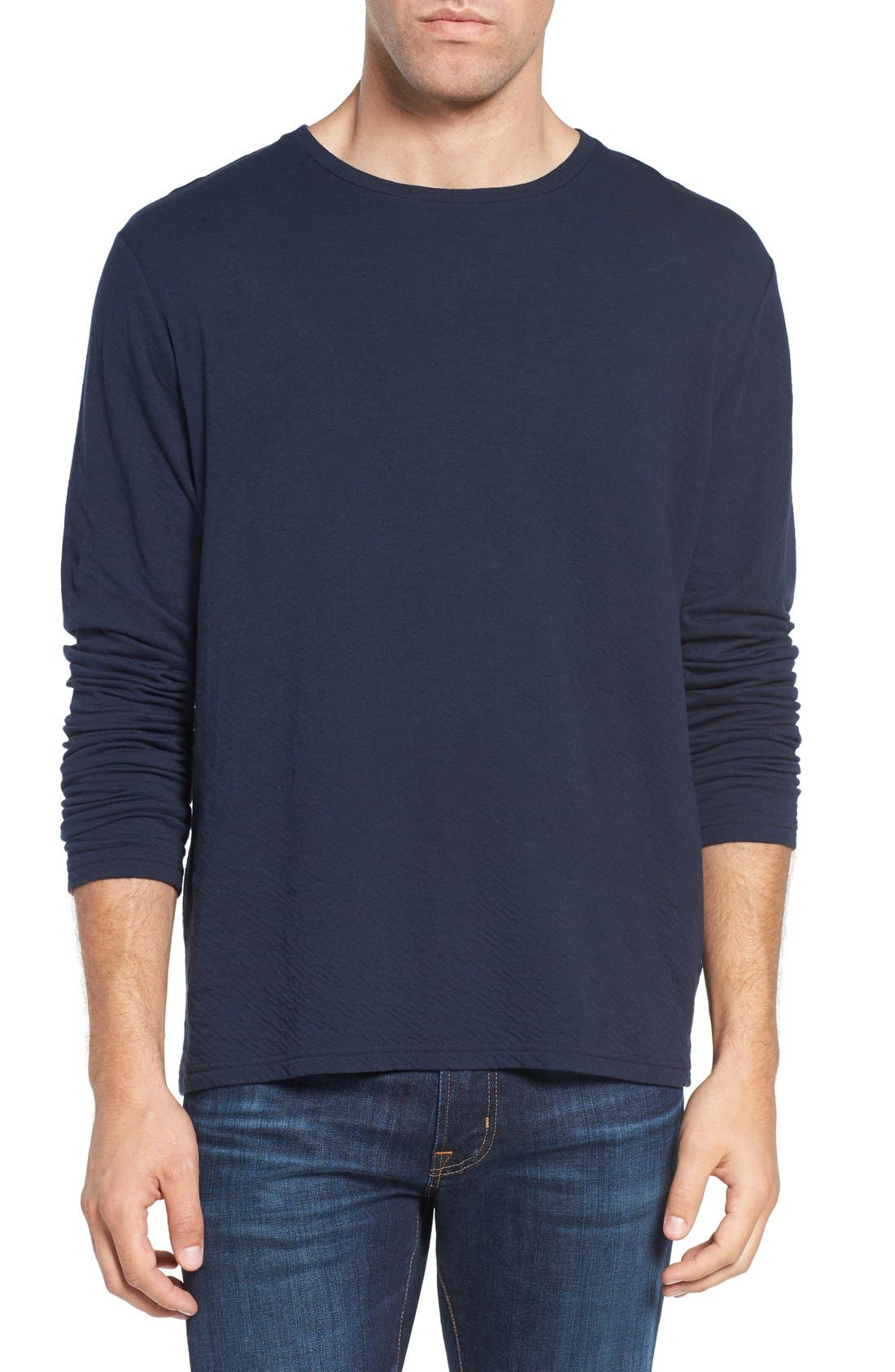 Long Sleeve Crewneck T-Shirt,                             Main thumbnail 2, color,