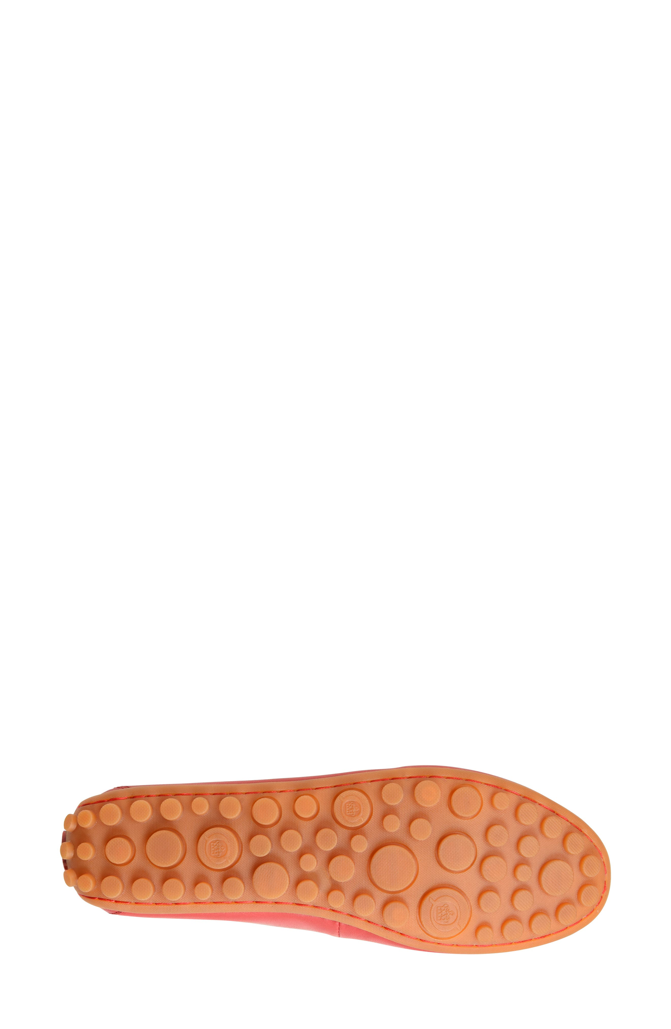 Malena Driving Loafer,                             Alternate thumbnail 5, color,                             RED LEATHER
