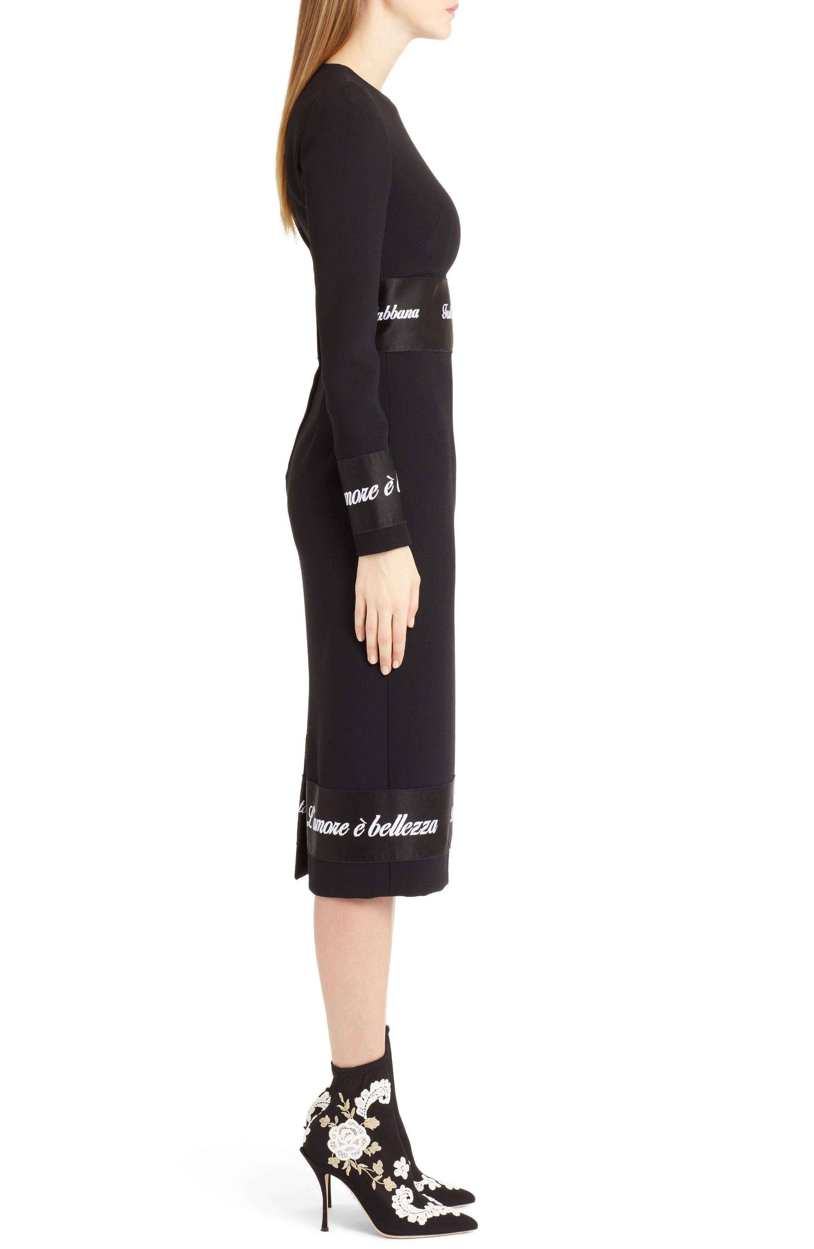 Fashion Devotion Sheath Dress,                             Alternate thumbnail 3, color,                             BLACK