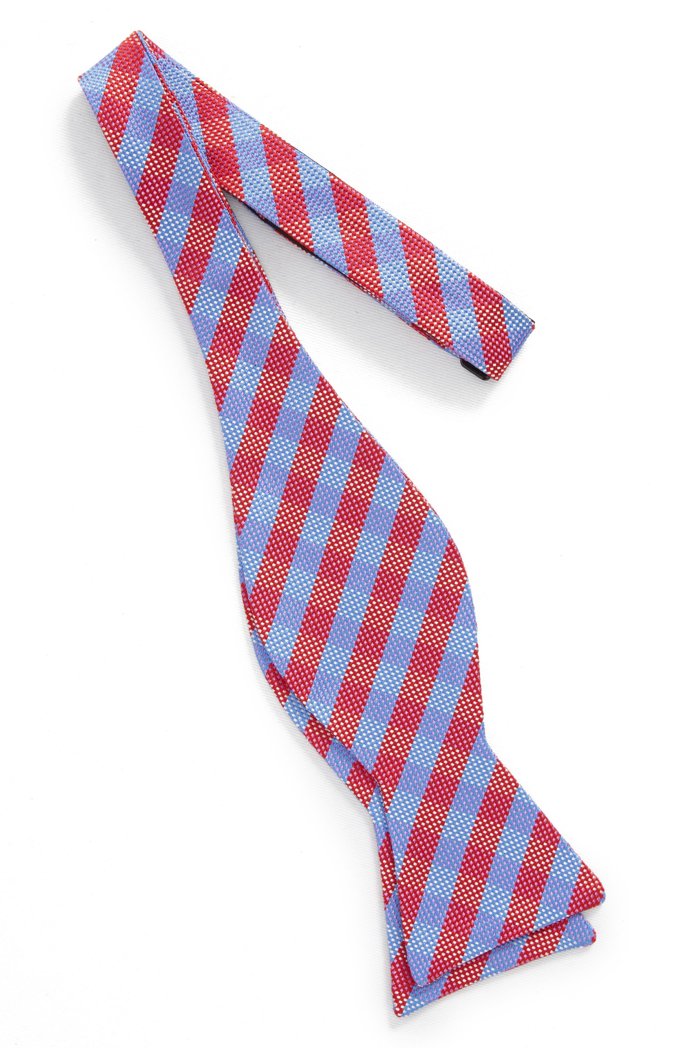 Check Silk Bow Tie,                             Alternate thumbnail 5, color,