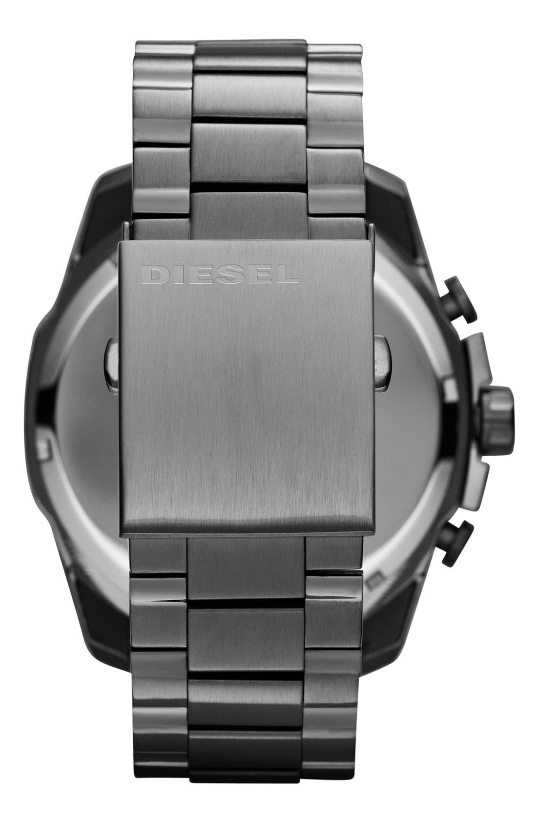 'Mega Chief' Bracelet Watch, 51mm,                             Alternate thumbnail 3, color,                             GUNMETAL