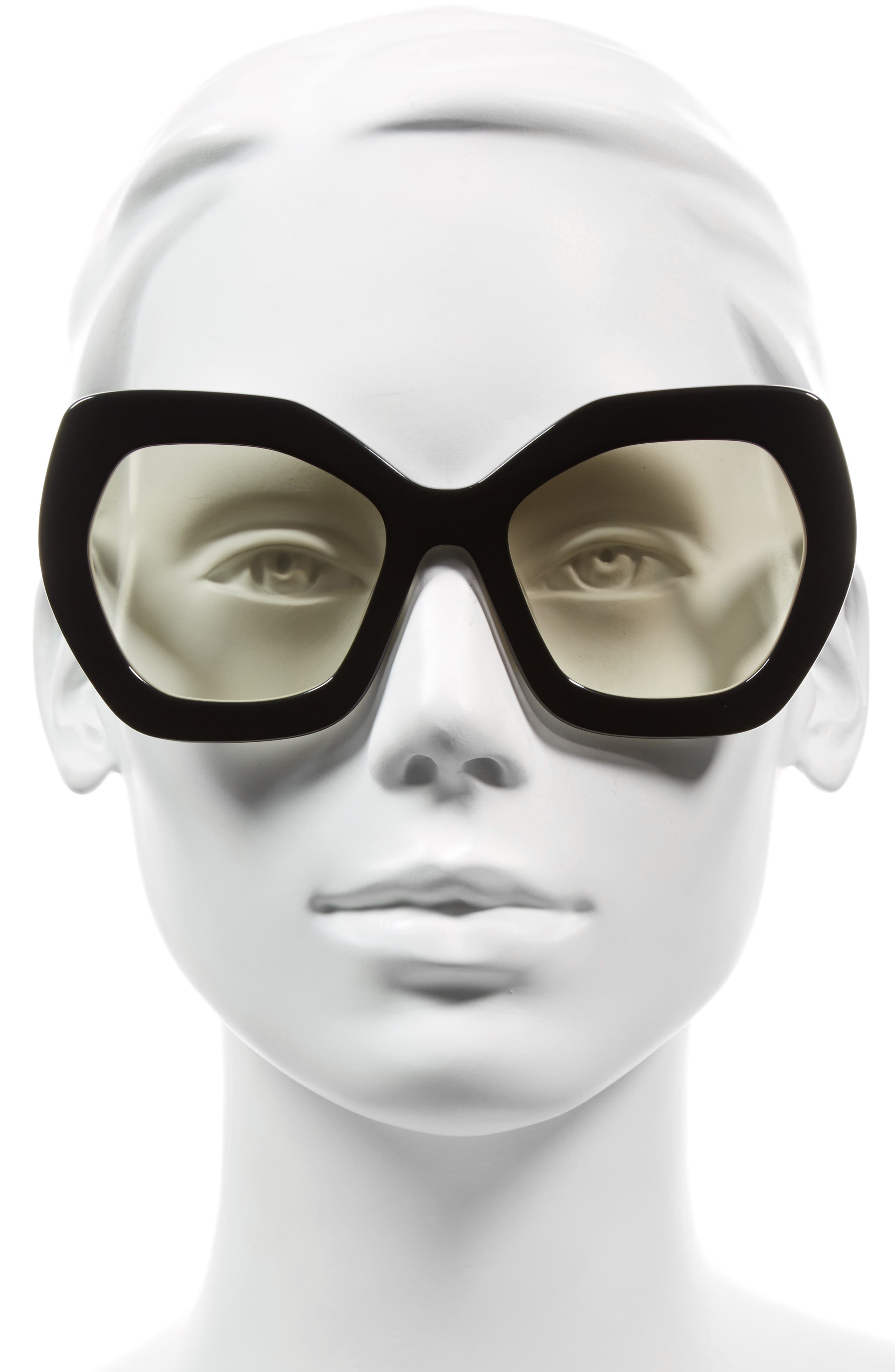 Dinah 55mm Butterfly Sunglasses,                             Alternate thumbnail 2, color,                             001