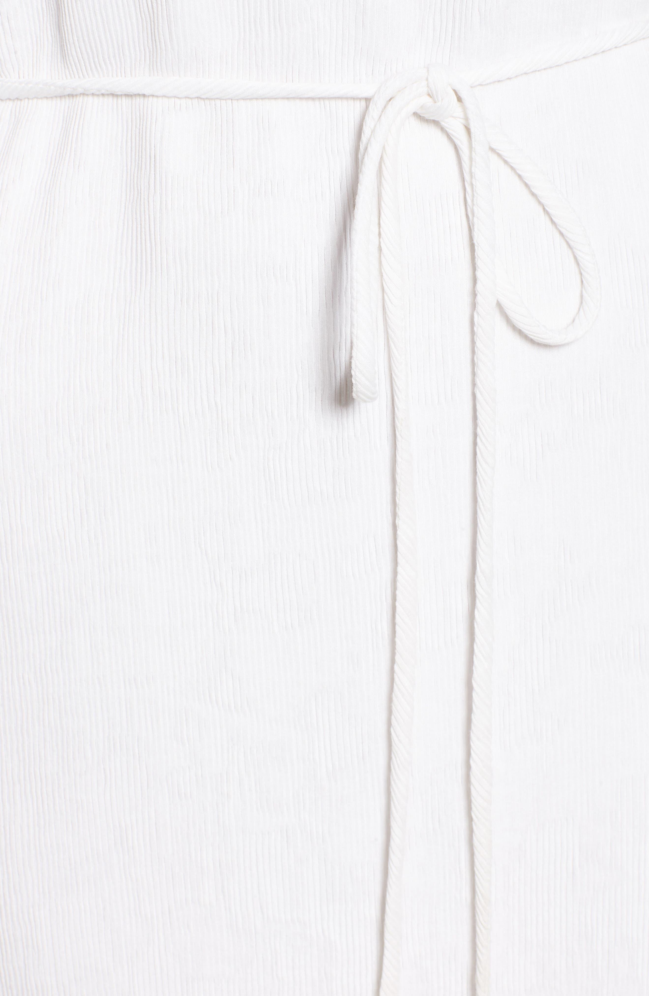 Tie Waist Midi Dress,                             Alternate thumbnail 5, color,