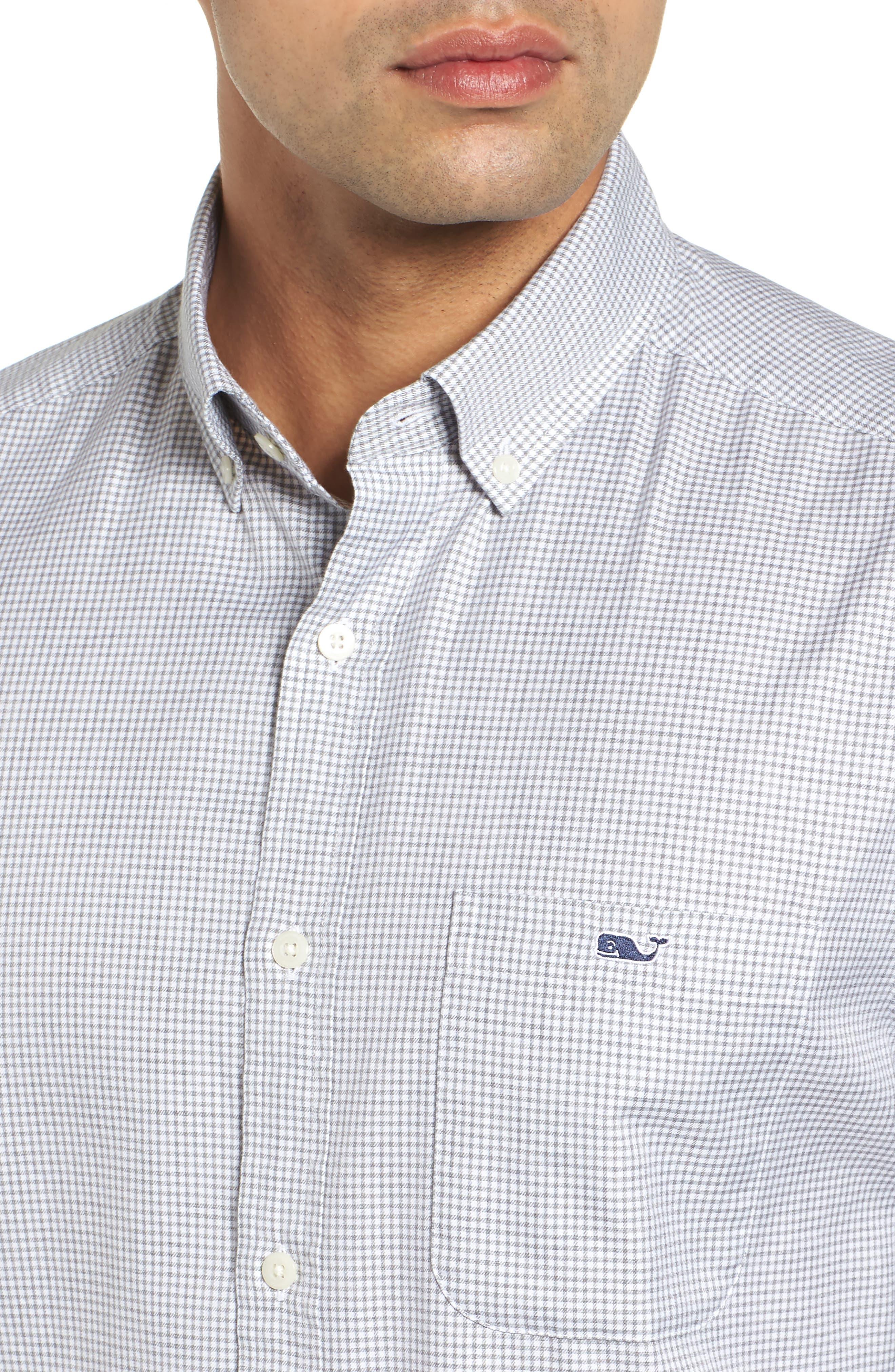 Kettle Cove Regular Fit Gingham Sport Shirt,                             Alternate thumbnail 2, color,                             BARRACUDA