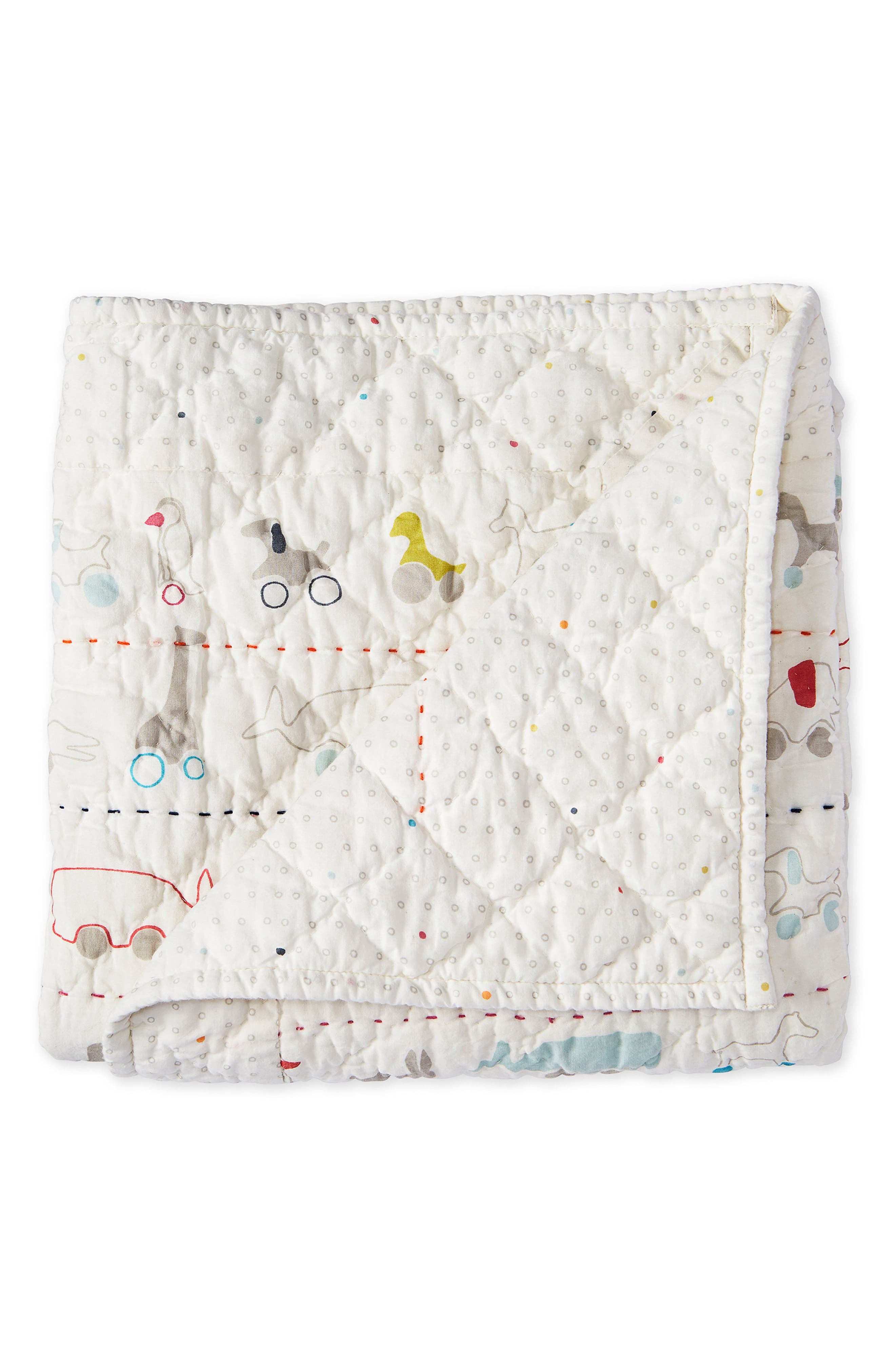PEHR,                             Pull Toys Print Quilted Blanket,                             Alternate thumbnail 2, color,                             MULTI