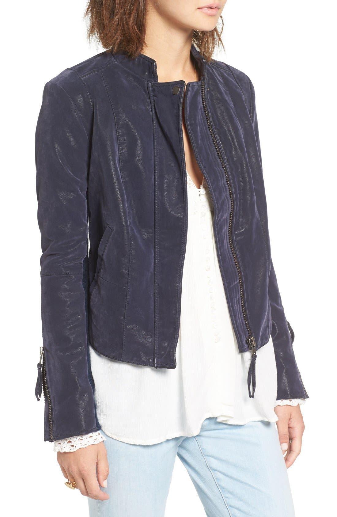Faux Leather Jacket,                             Alternate thumbnail 24, color,