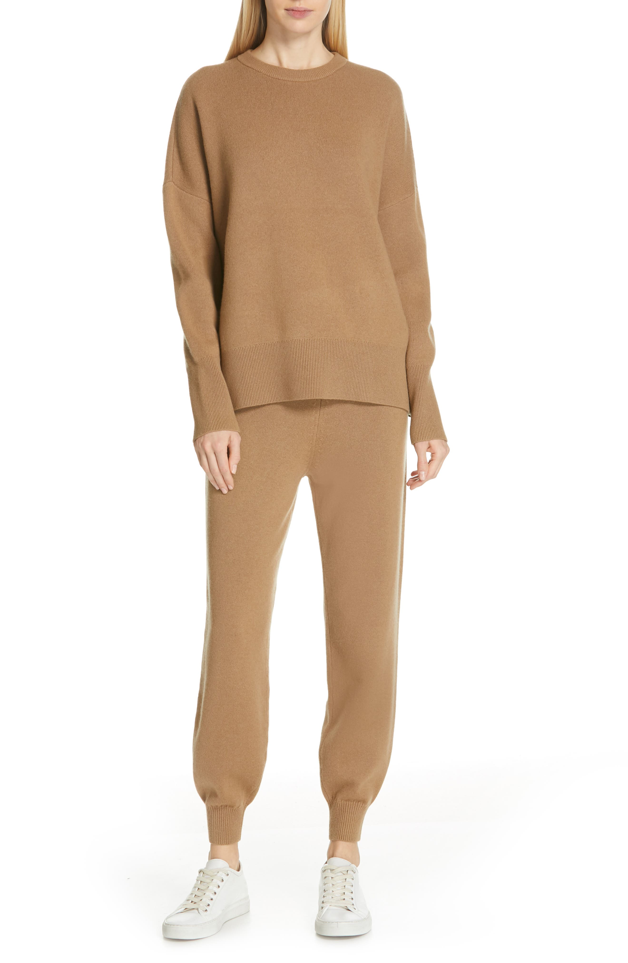 Relaxed Drop Shoulder Wool & Cashmere Sweater,                             Alternate thumbnail 7, color,                             280