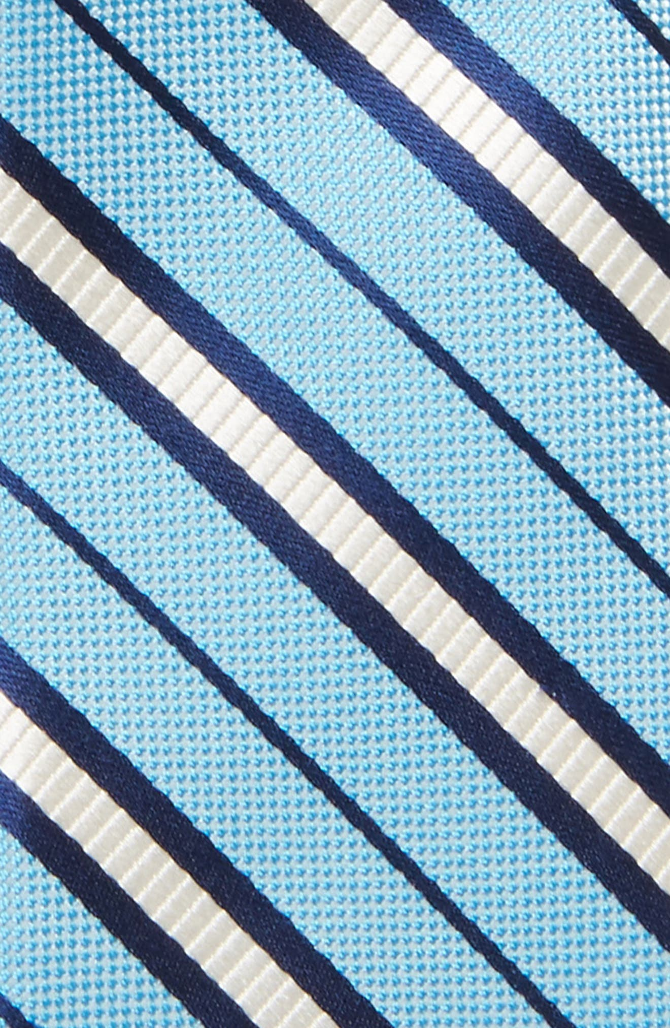 Candy Stripe Silk Tie,                             Alternate thumbnail 2, color,                             LIGHT BLUE