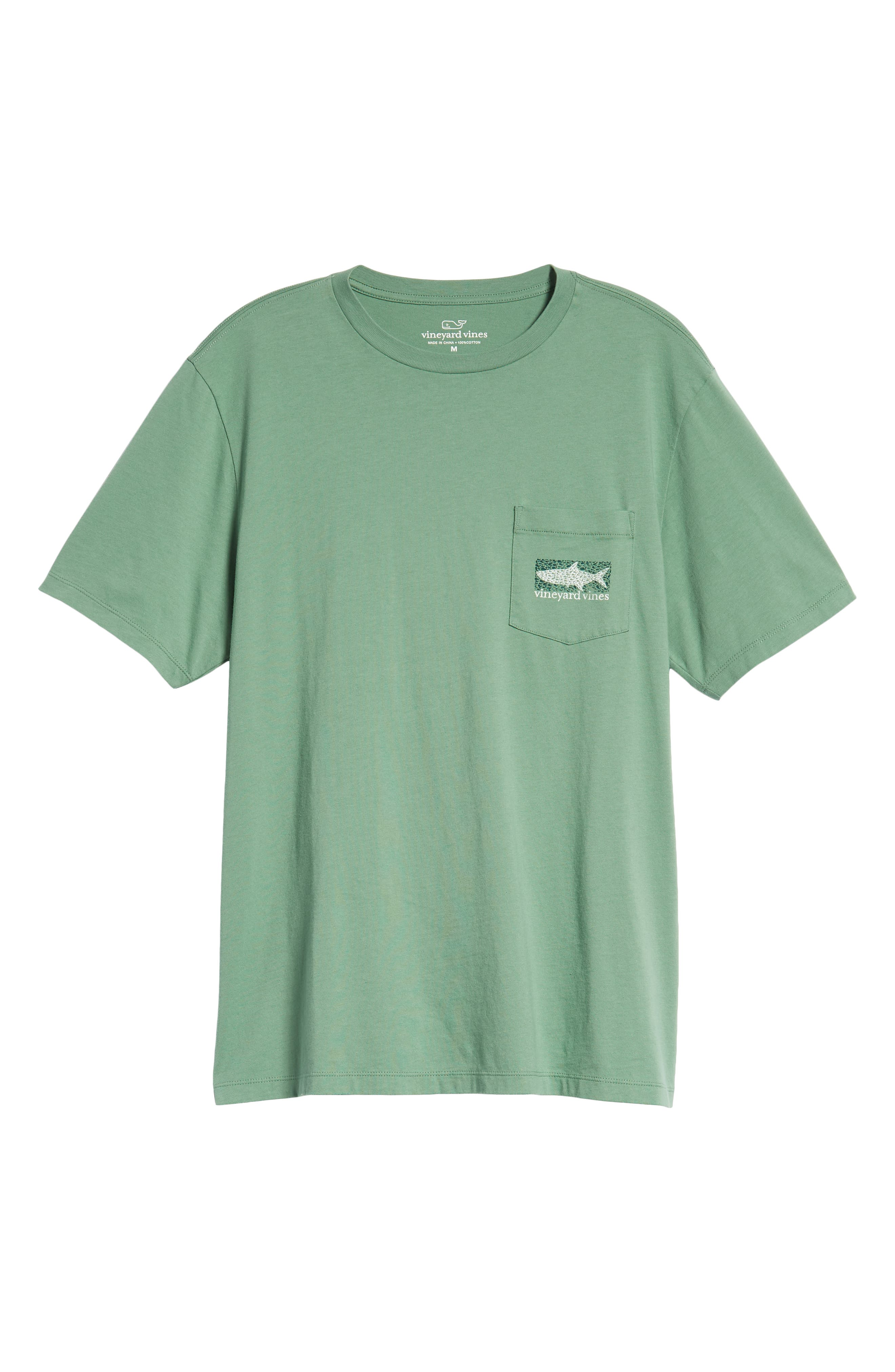 Fish Scale Pocket T-Shirt,                             Alternate thumbnail 6, color,                             STARBOARD GREEN