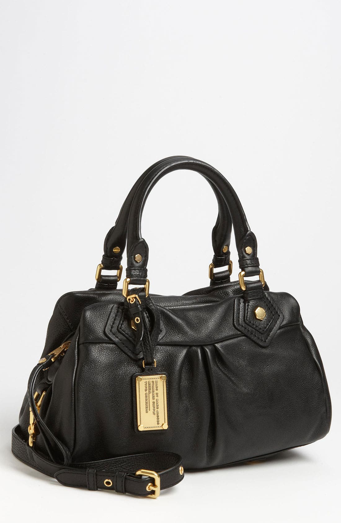 MARC BY MARC JACOBS 'Classic Q - Baby Groovee' Leather Satchel,                             Main thumbnail 1, color,                             002