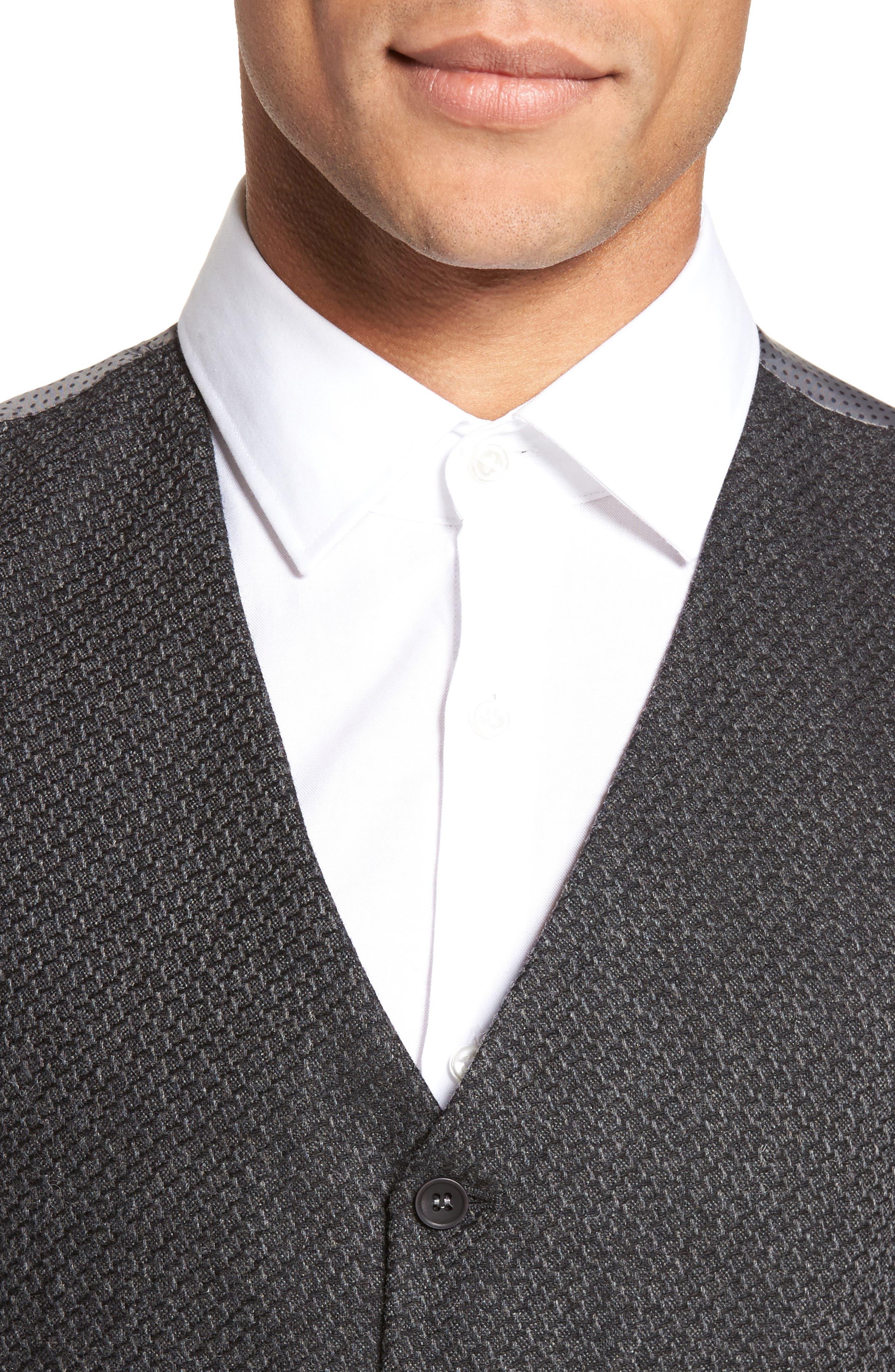 Textured Wool Blend Vest,                             Alternate thumbnail 4, color,                             020